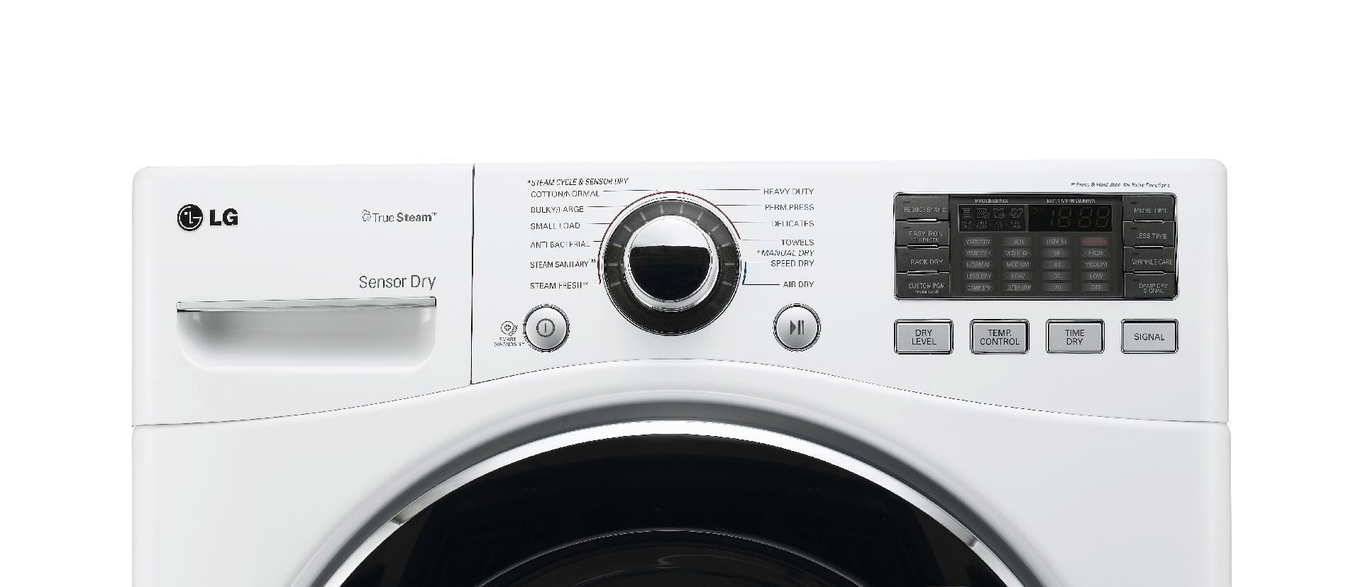 LG 7.3 cu. ft. Steam  Gas Dryer w/ Sensor Dry - White