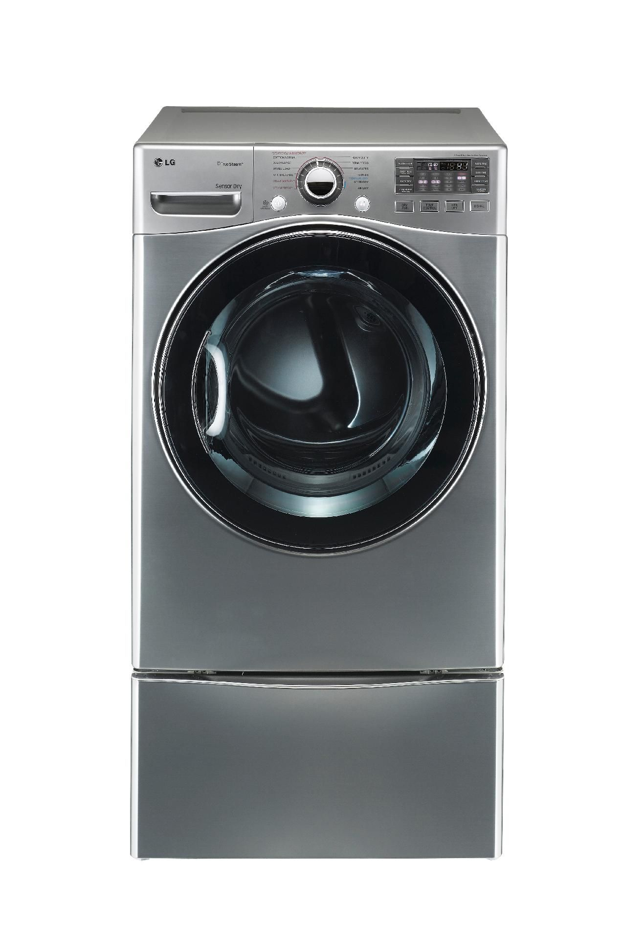 LG 7.3 cu. ft. Steam Gas Dryer w/ Sensor Dry  - Graphite Steel