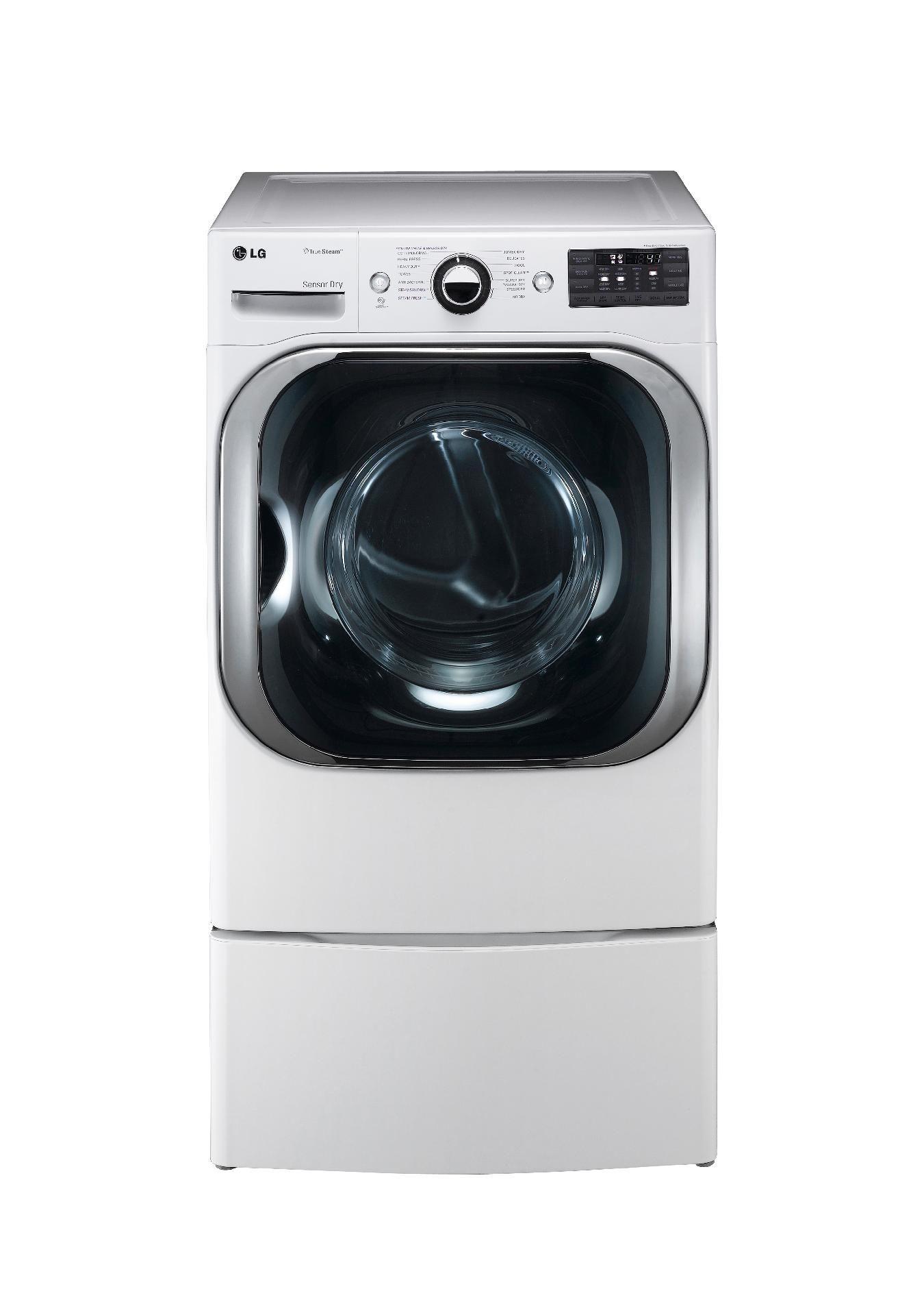 LG 9.0 cu. ft. Mega-Capacity Steam  Gas Dryer - White