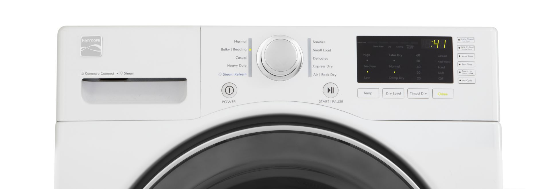 Kenmore 7.3 cu. ft. Electric Dryer with Sensor Dry - White