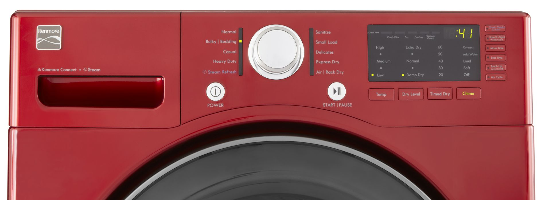 Kenmore 7.3 cu. ft. Gas Dryer with Sensor Dry - Red
