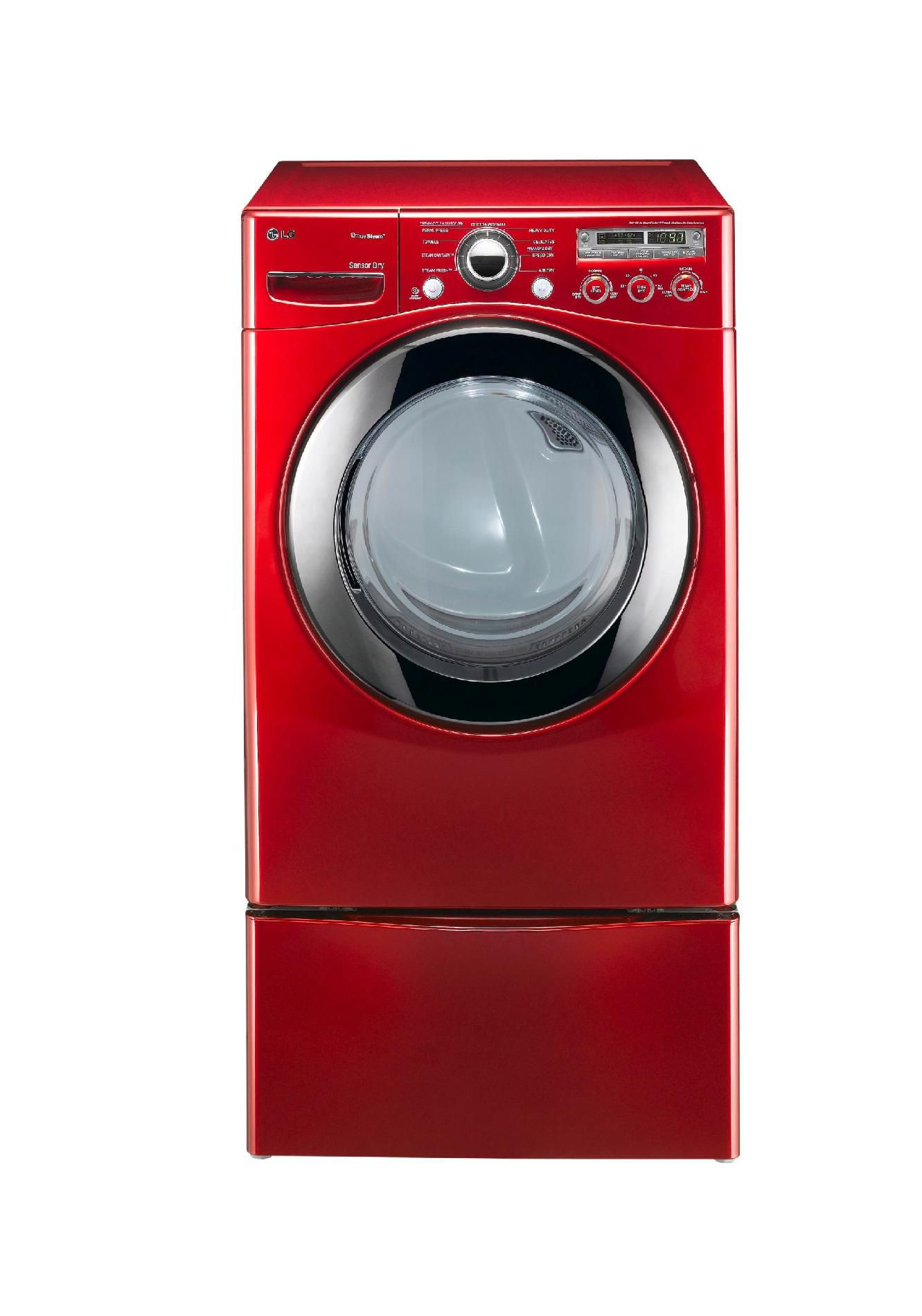 LG 7.3 cu. ft. Electric Dryer w/Steam Red