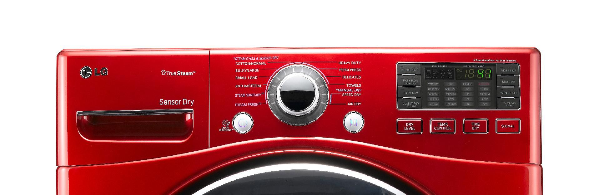 LG 7.3 cu. ft. Steam Electric Dryer w/ Sensor Dry - Red