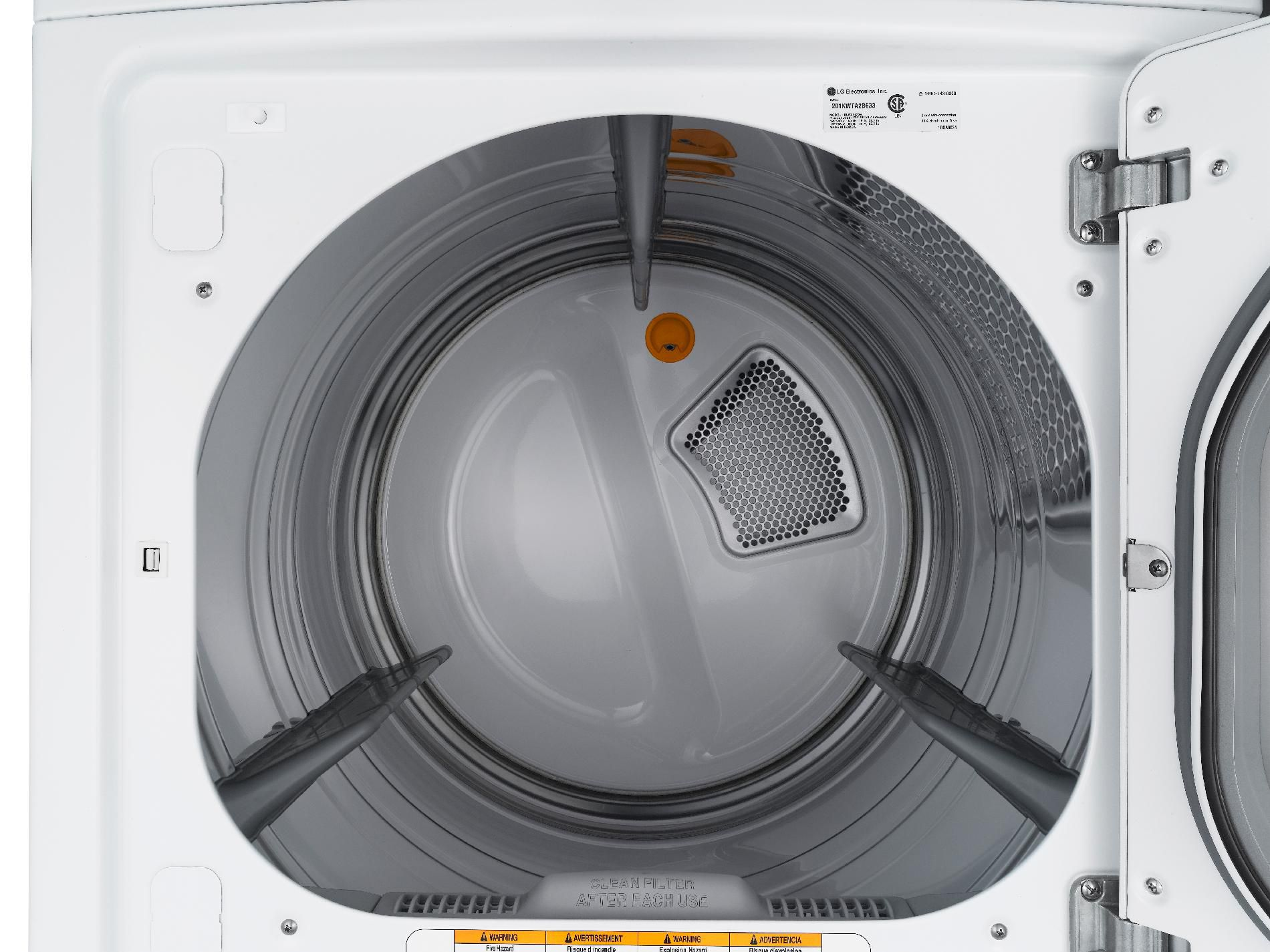 LG 7.3 cu. ft. Ultra Large Capacity Electric Steam Dryer™ w/ Sensor Dry - White