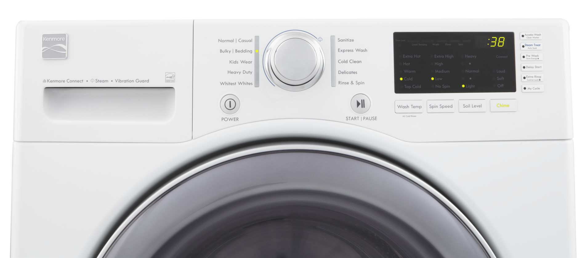 Kenmore 3.7 cu. ft. Steam Front-Load Washing Machine - White