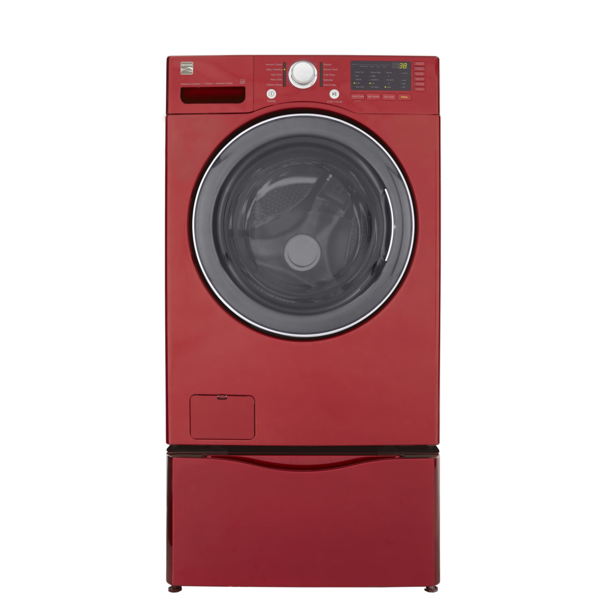Kenmore 3.7 cu. ft. Steam Front-Load Washing Machine - Red