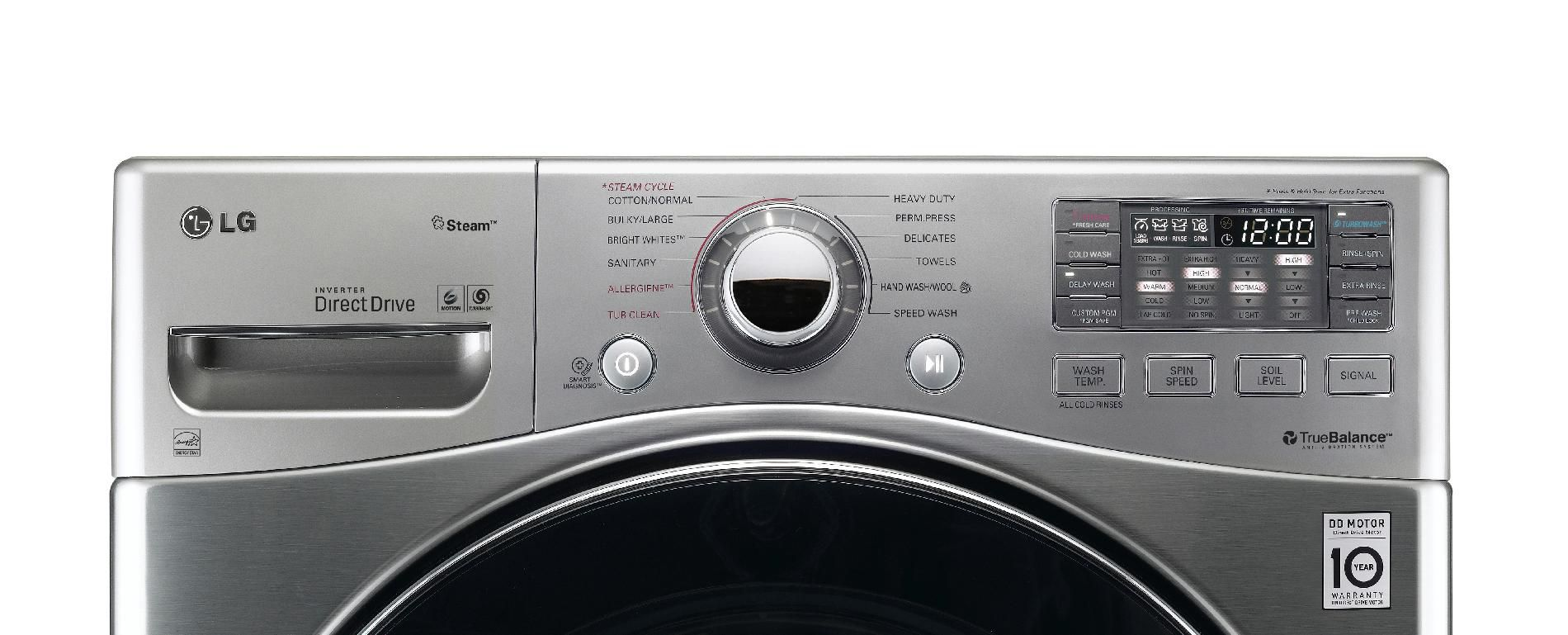 LG 4.0 cu. ft. Ultra-Large-Capacity Steam Front-Load Washer - Graphite Steel