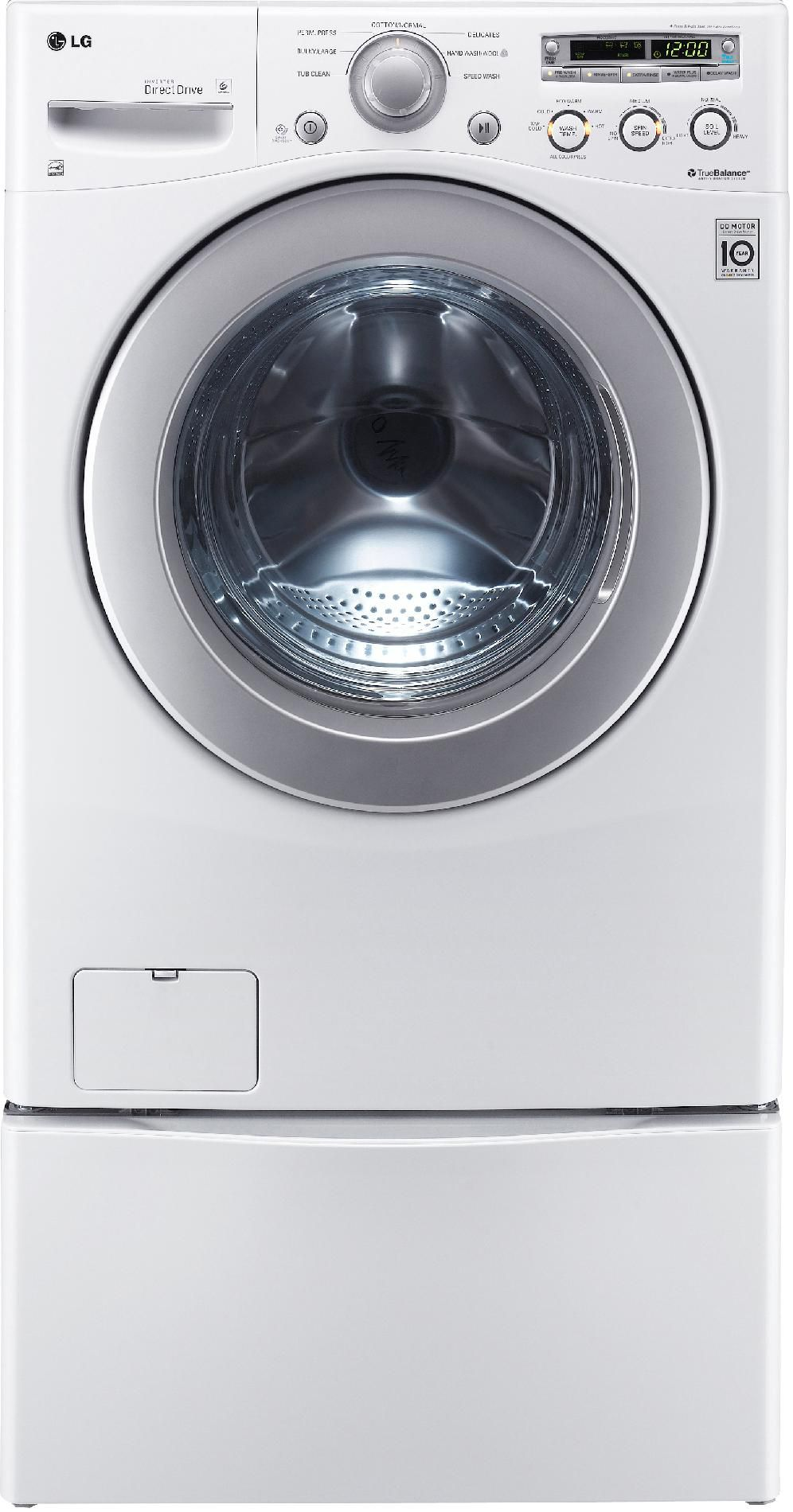 LG 3.6 cu. ft. Large Capacity Front-Load Washer - White