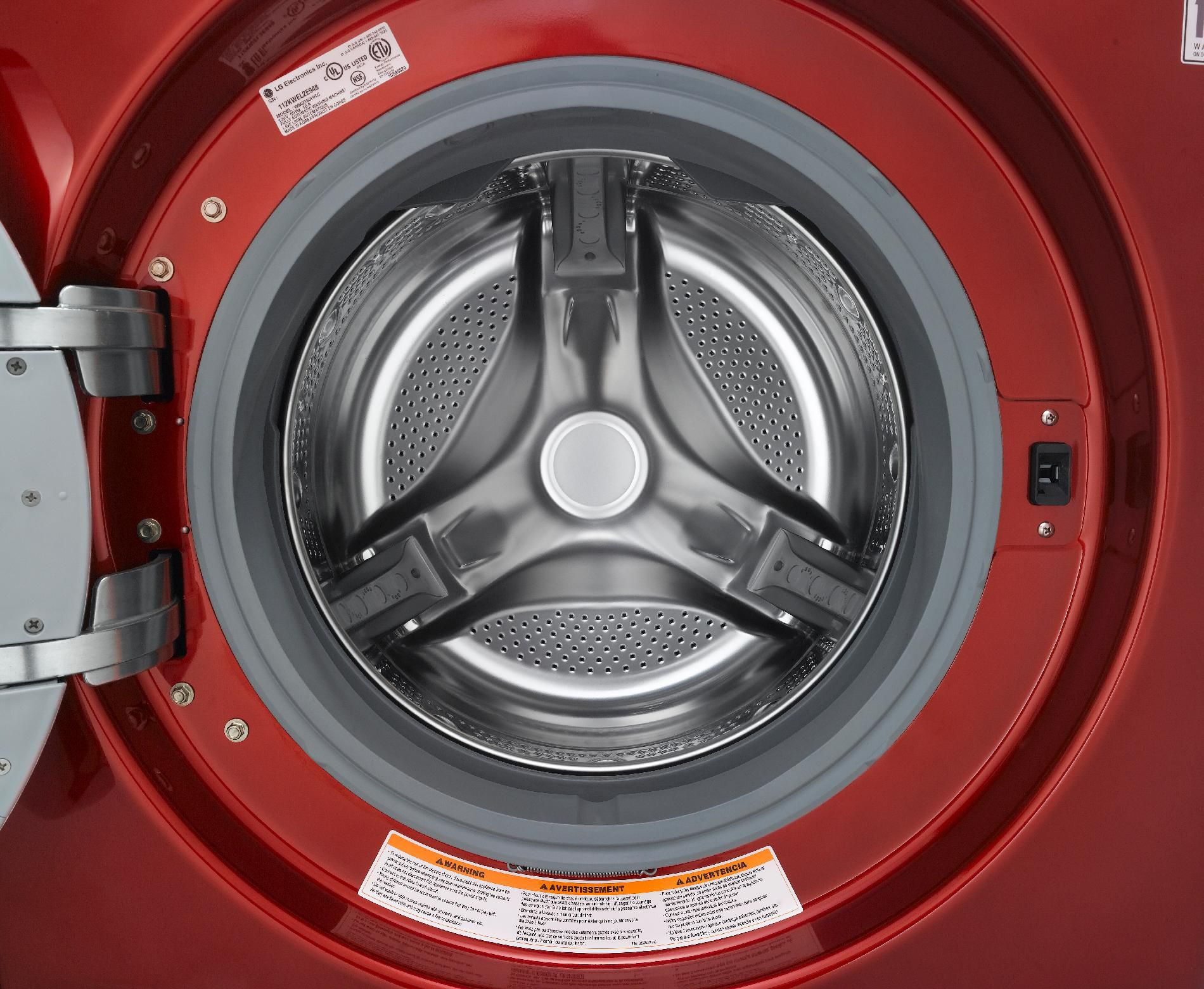 LG 3.7 cu. ft. Steam Front-Load Washer - Red