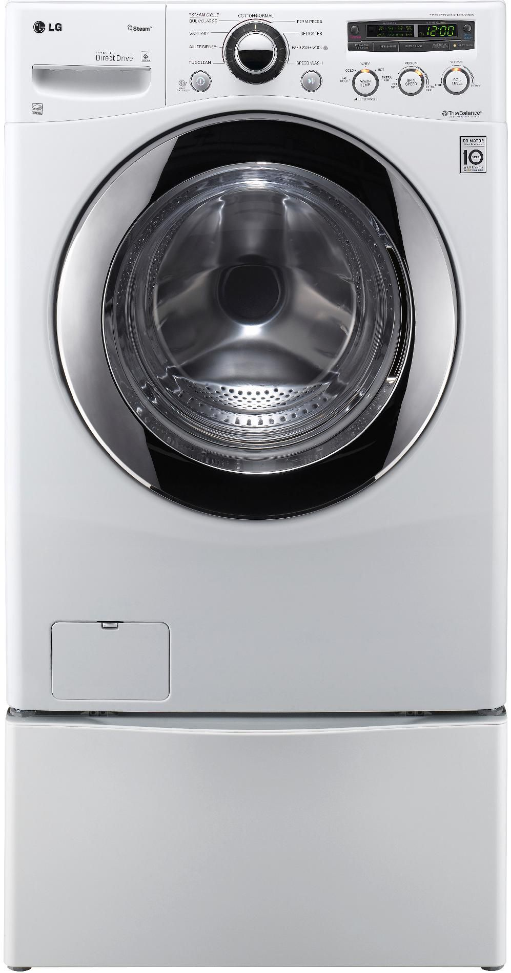 LG 3.6 Cu.Ft. Extra Large Capacity Steam Front-Load Washer w/ Cold Wash™ - White