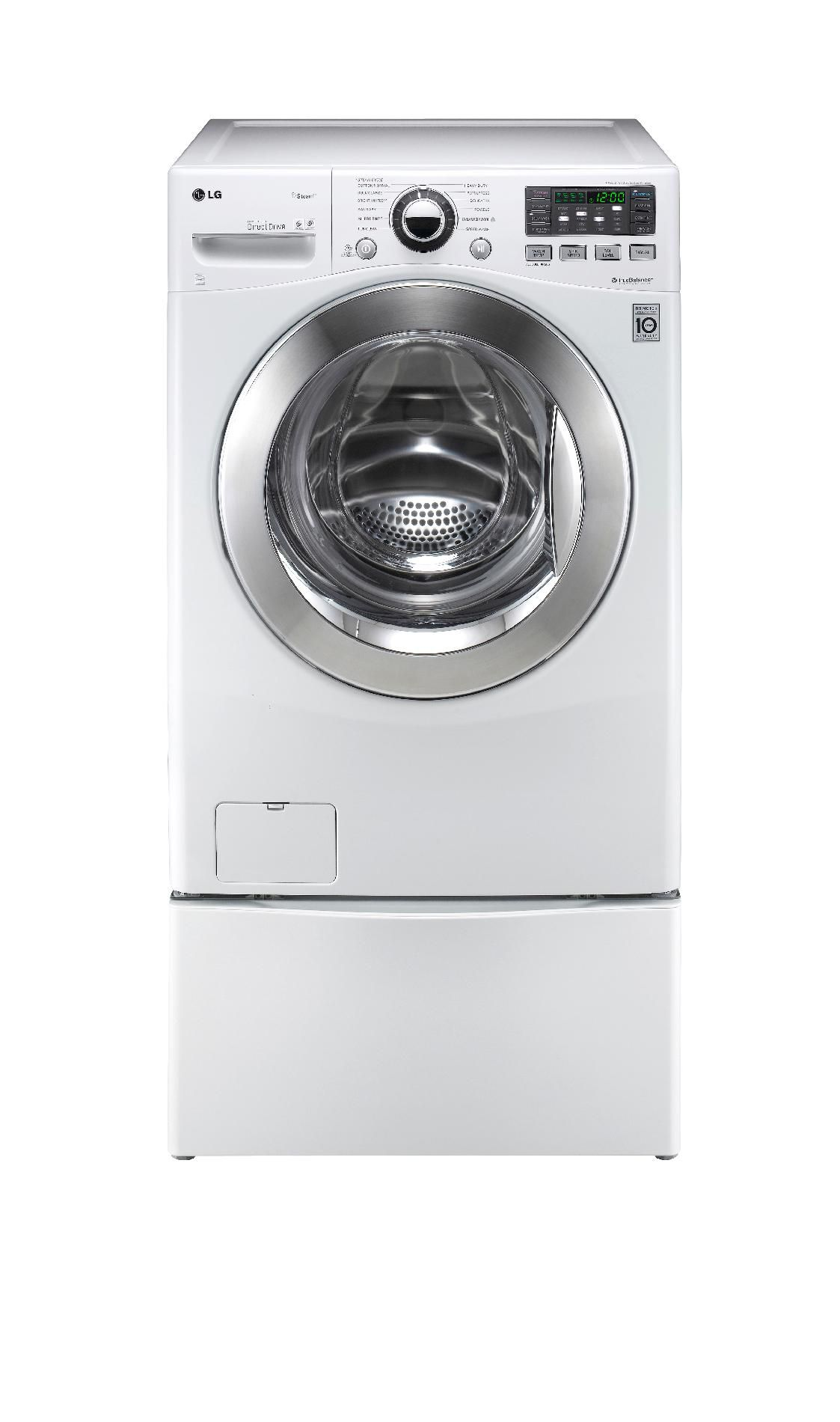 LG 3.7 cu. ft. Steam Front-Load Washer  - White