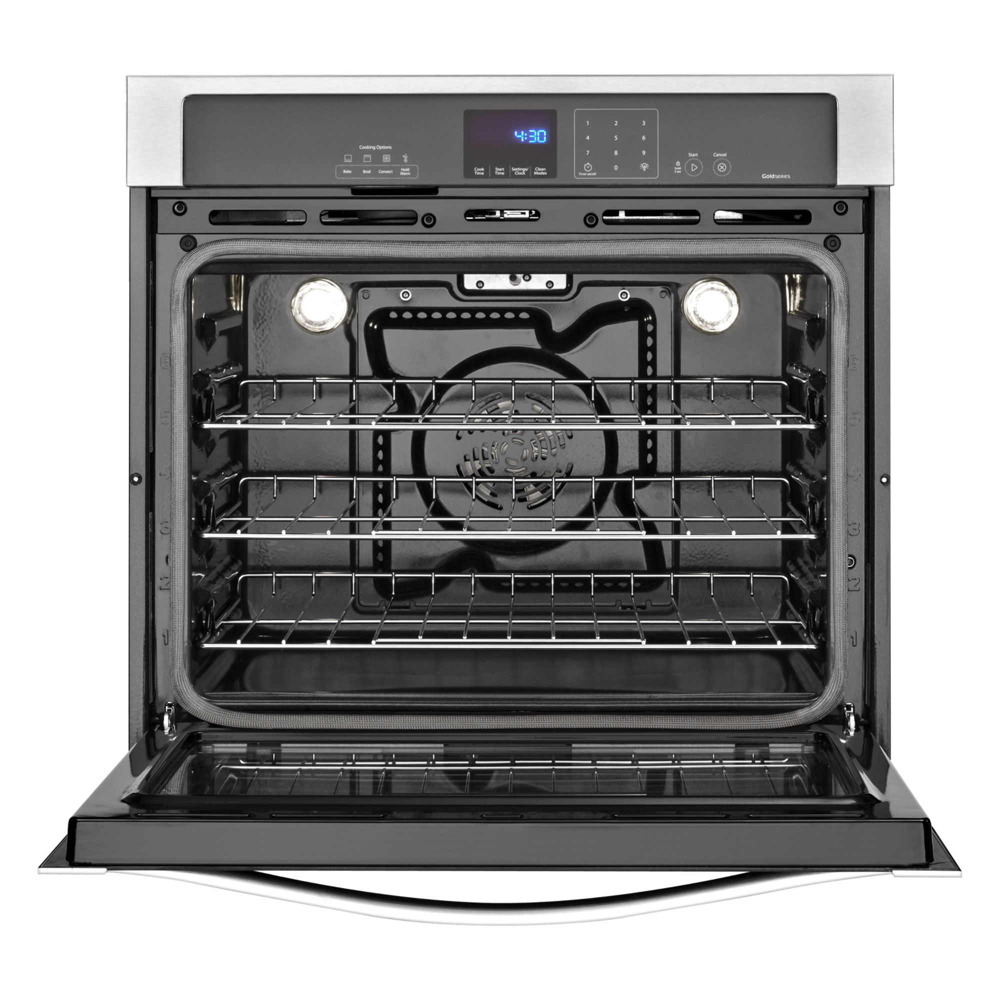 "Whirlpool Gold WOS92EC0AS 30"" Electric Wall Oven w/ TimeSavor™ Ultra True Convection - Stainless Steel"