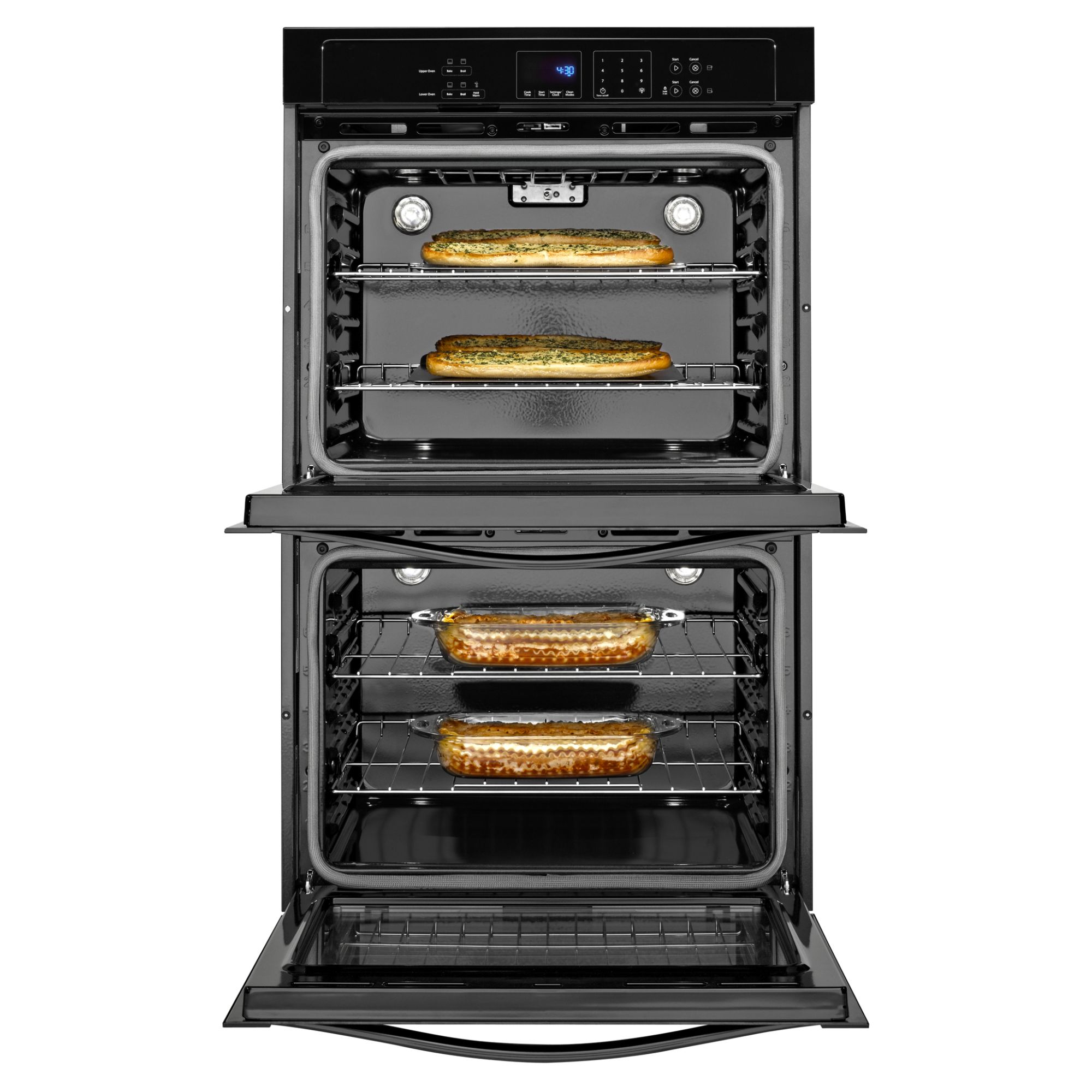 "Whirlpool WOD51EC0AB 30"" Electric Double Wall Oven w/ SteamClean - Black"
