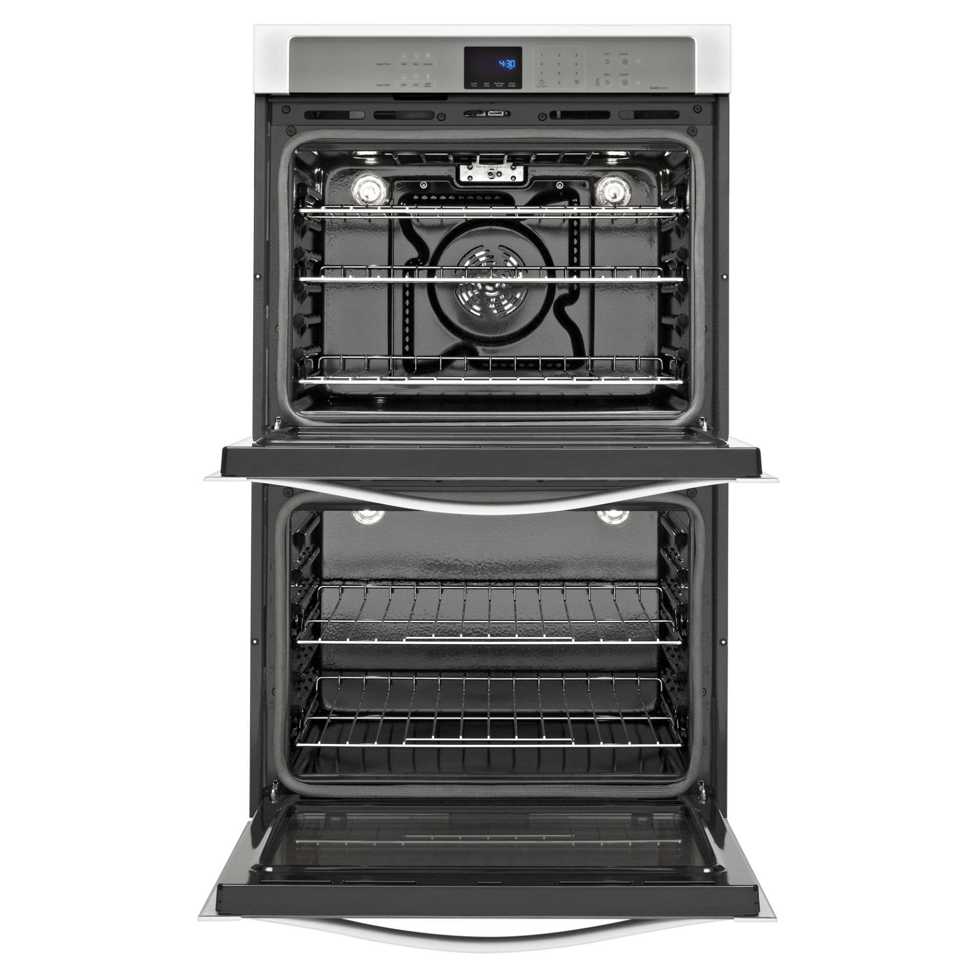 "Whirlpool Gold WOD93EC0AH 30"" Electric Double Wall Oven w/ TimeSavor™ Ultra True Convection - White Ice"