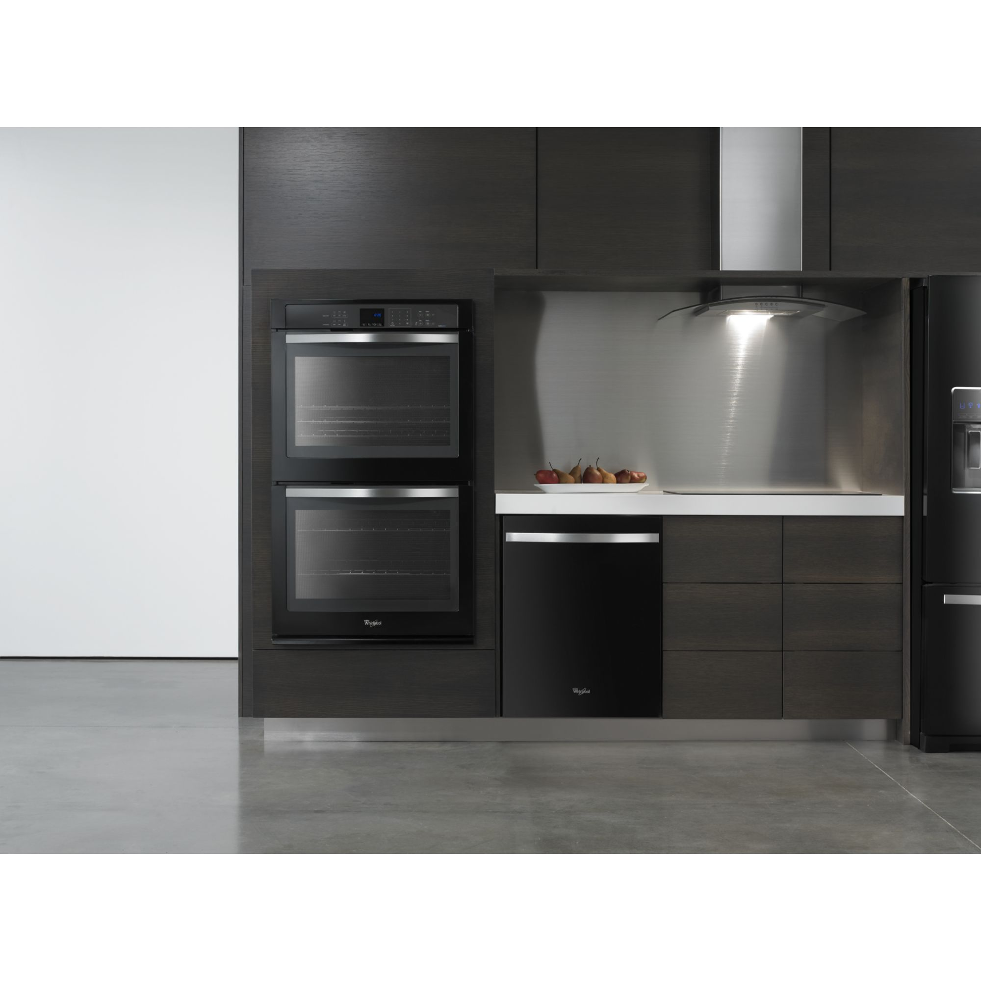 "Whirlpool Gold WOD93EC0AE 30"" Electric Double Wall Oven w/ TimeSavor™ Ultra True Convection - Black Ice"