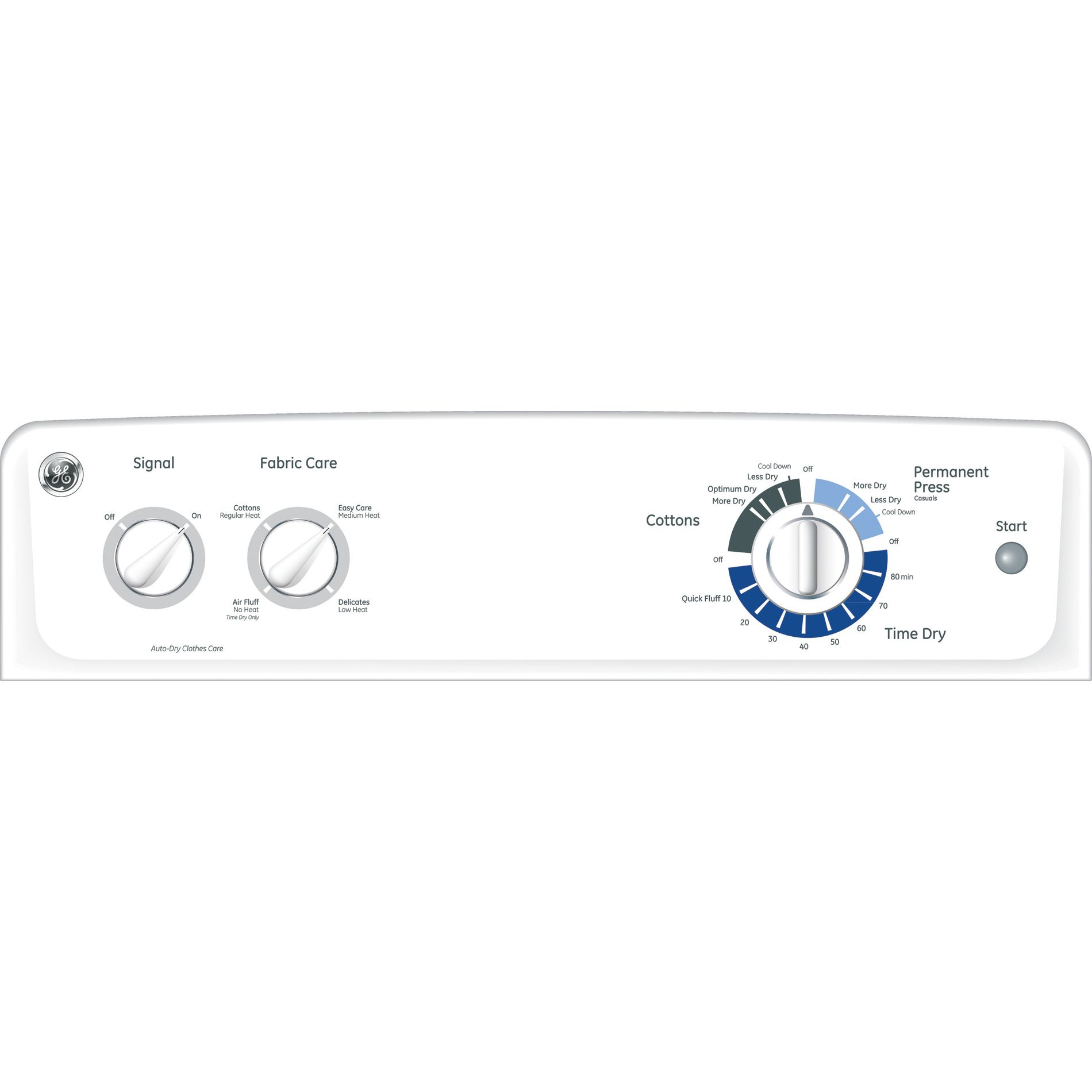 GE 6.8 cu. ft. Electric Dryer - White