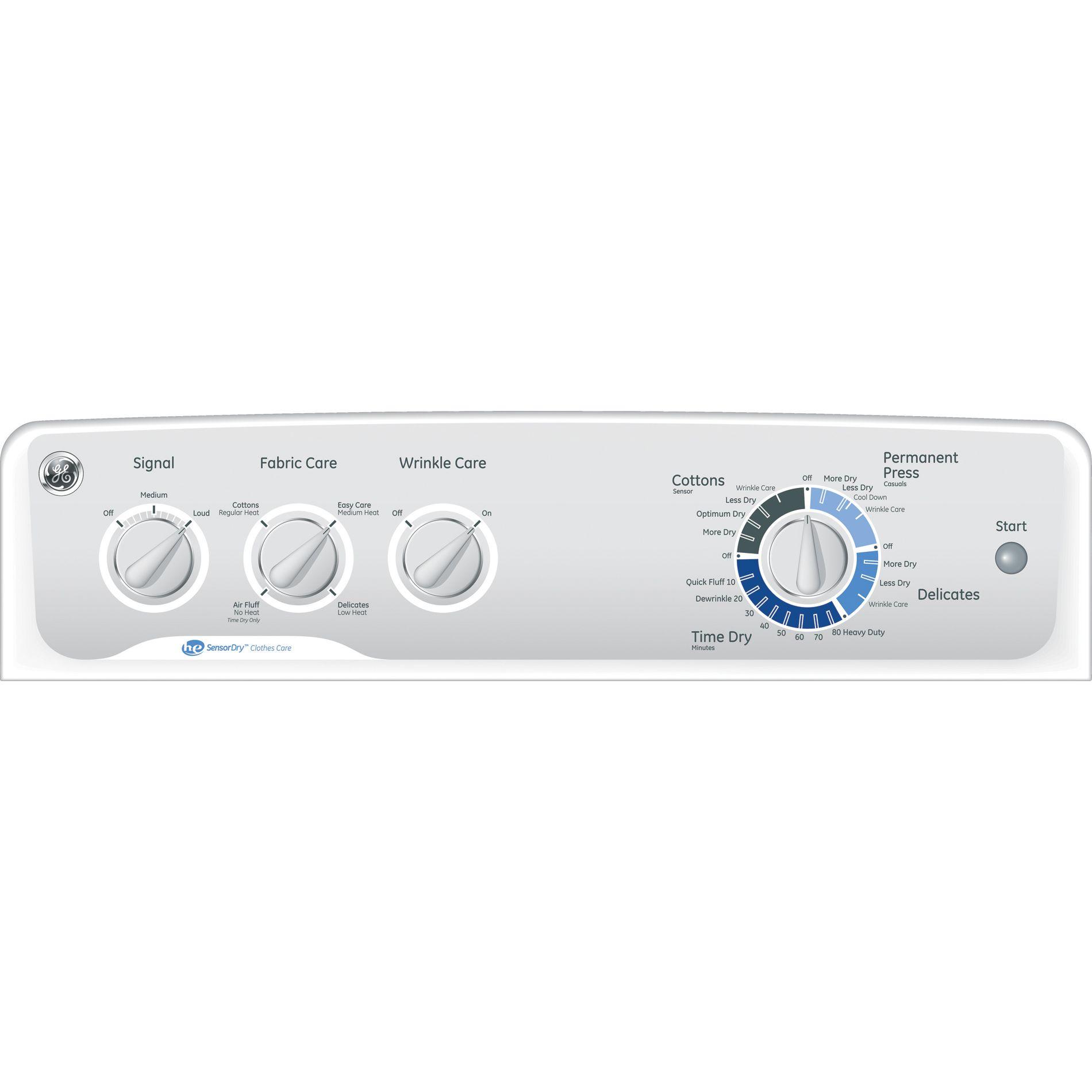 GE 7.0 cu. ft. Gas Dryer - White