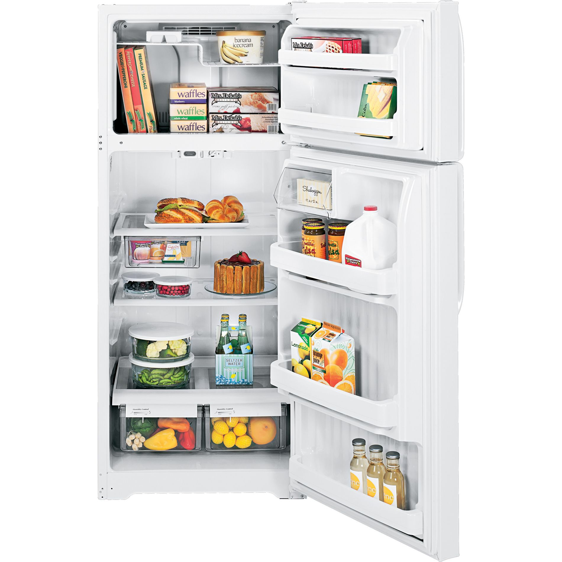 GE 18.1 cu. ft. Top Freezer Refrigerator - White