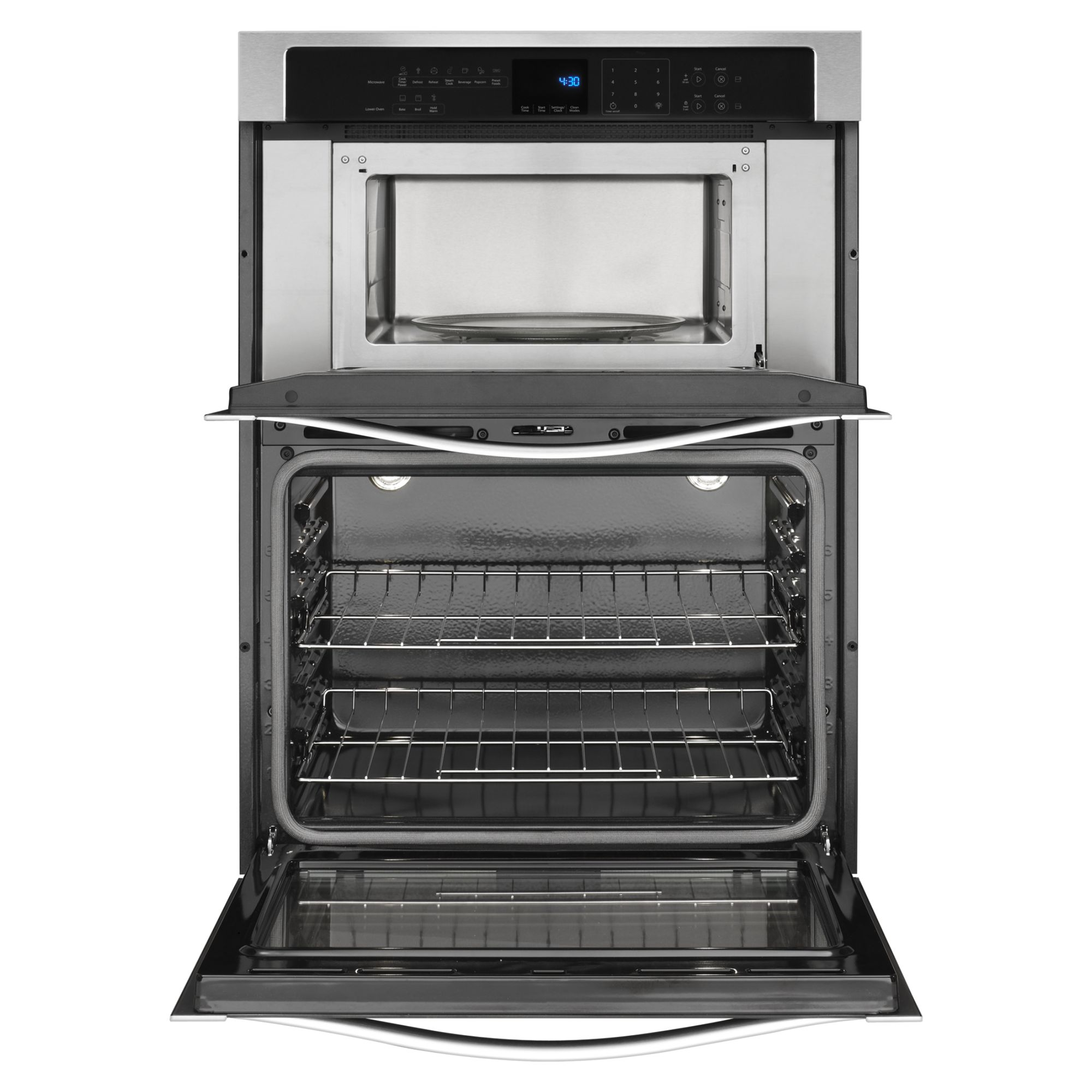 "Whirlpool WOC54EC0AS 30"" Electric Combination Stainless Steel Wall Oven and Microwave"