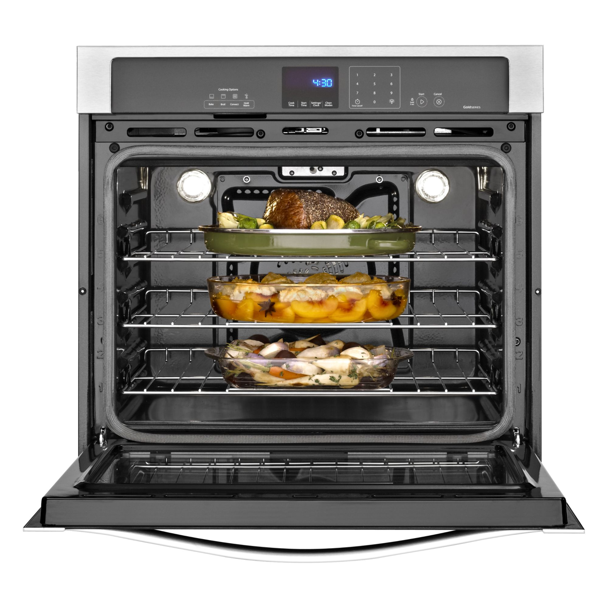 "Whirlpool Gold WOS92EC7AS 27"" Electric Wall Oven w/ TimeSavor™ Ultra True Convection - Stainless Steel"