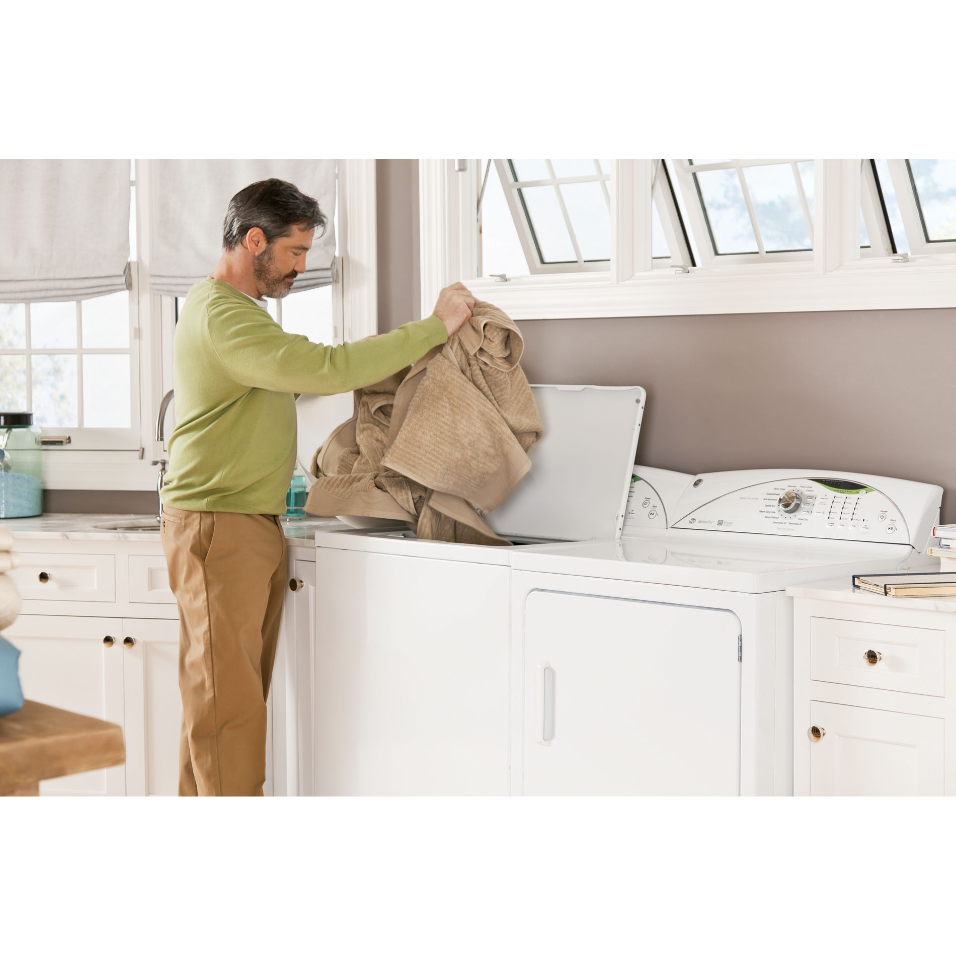 GE 4.0 cu. ft. High-Efficiency Top Load Washer - White