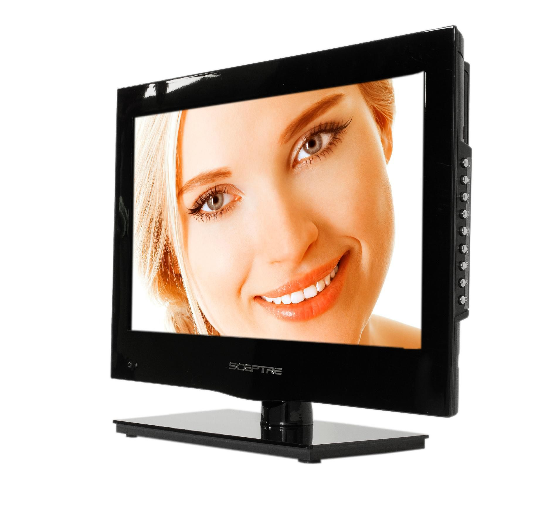 "Sceptre 16"" Class 720p 60Hz LED HDTV with Built-in DVD player - E165BD-HD"