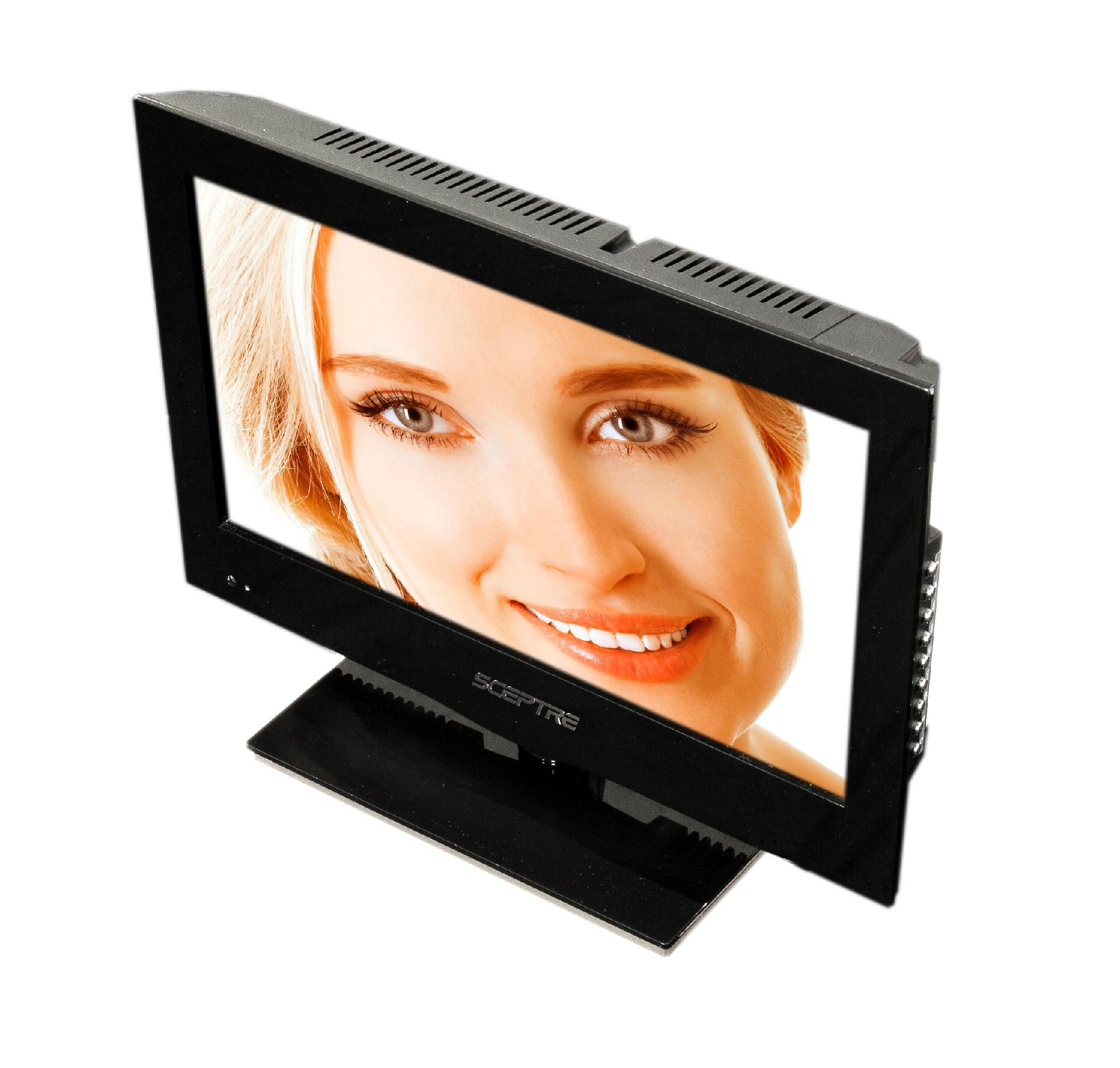 """Sceptre 16"""" Class 720p 60Hz LED HDTV with Built-in DVD player - E165BD-HD"""