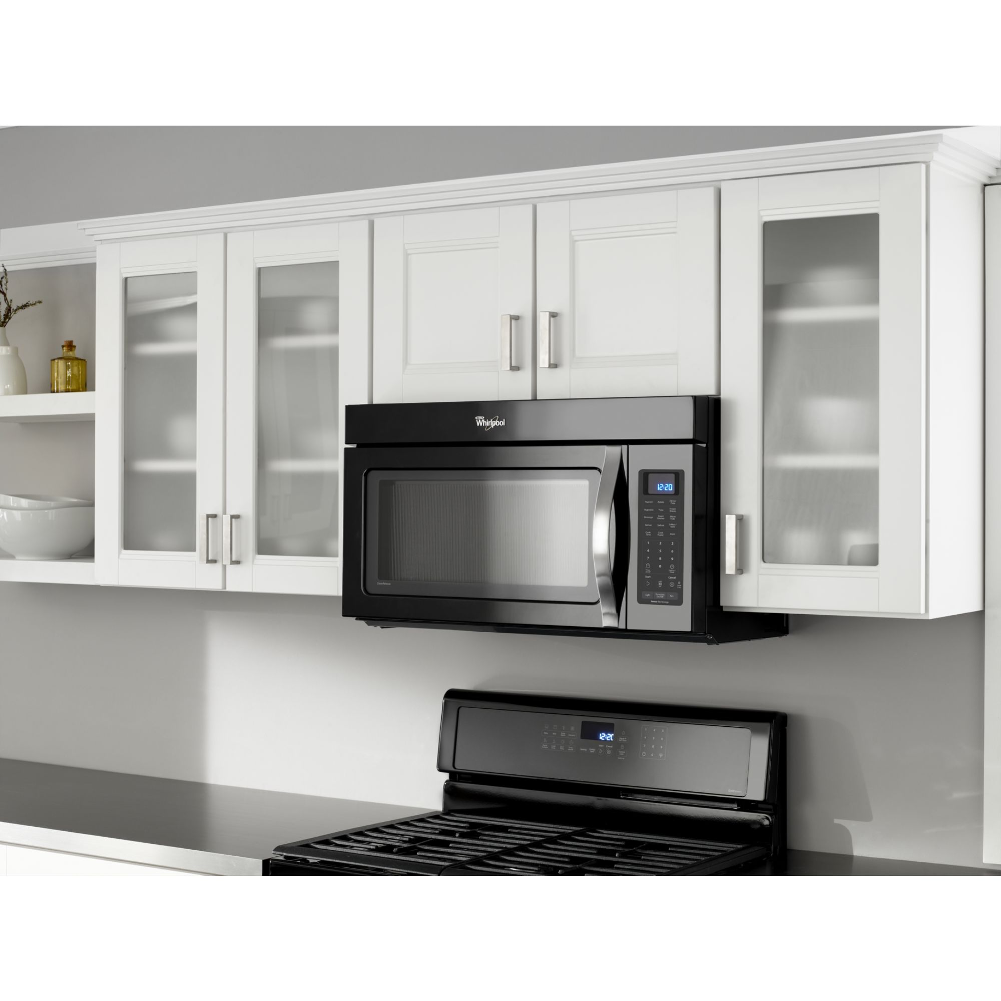 Whirlpool 30 in. Over the Range Microwave w/ Auto Adapt Fan - Black Ice