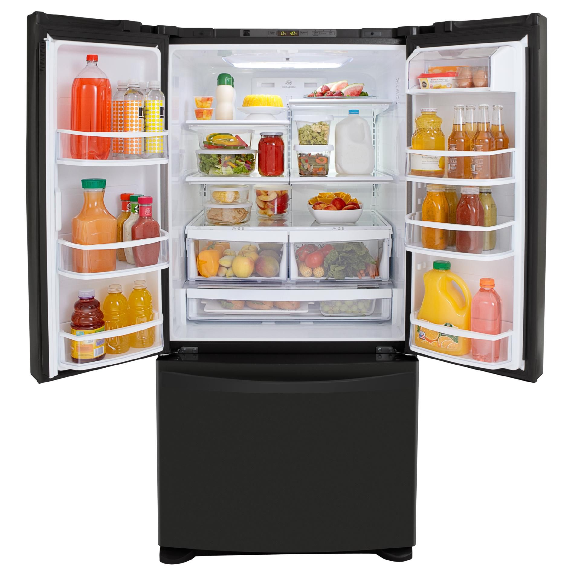 Kenmore Elite 25 cu. ft. French-Door Bottom-Freezer Refrigerator Non-Dispenser - Black
