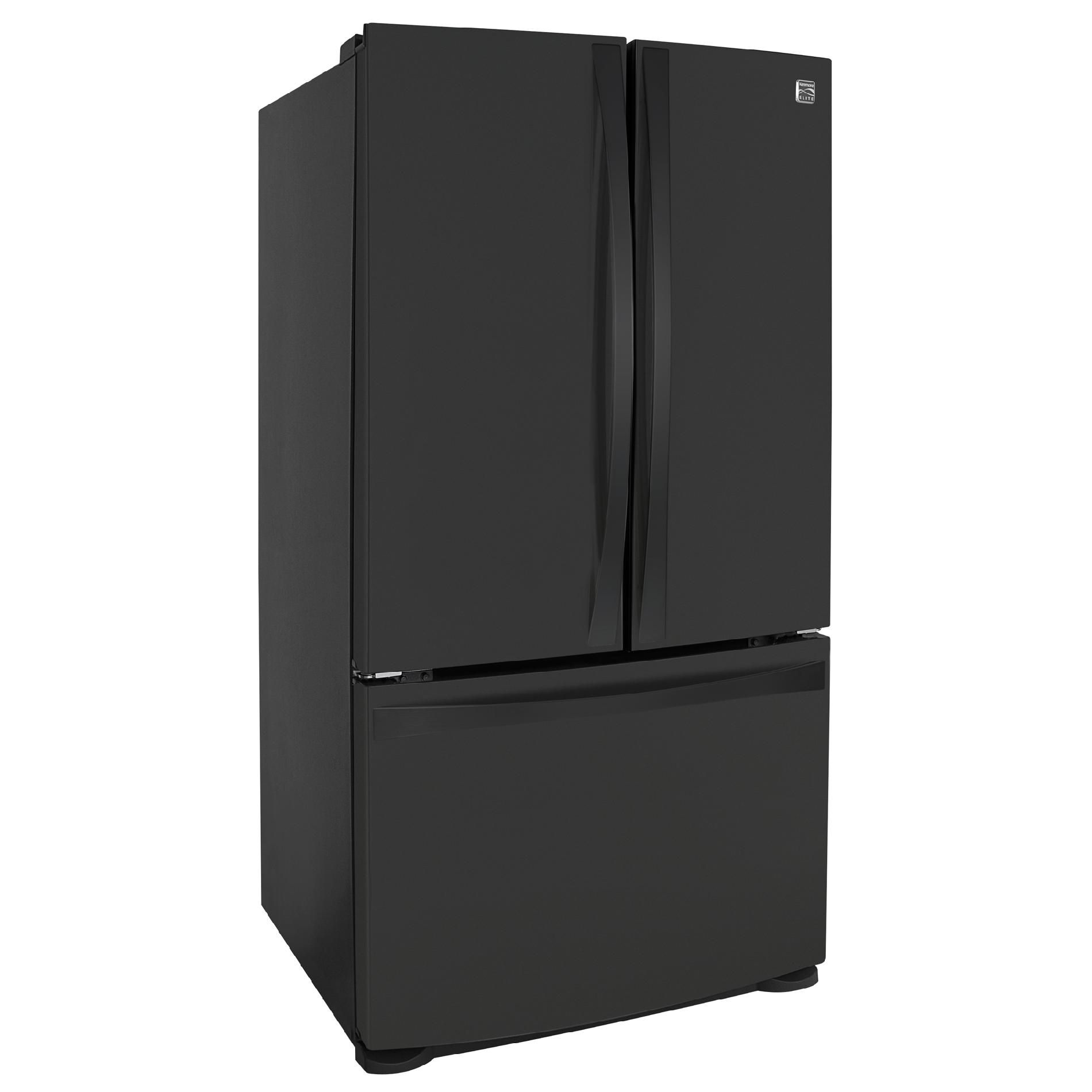 Kenmore Elite 25 cu. ft. French-Door Bottom-Freezer Refrigerator Non-Dispenser - Black