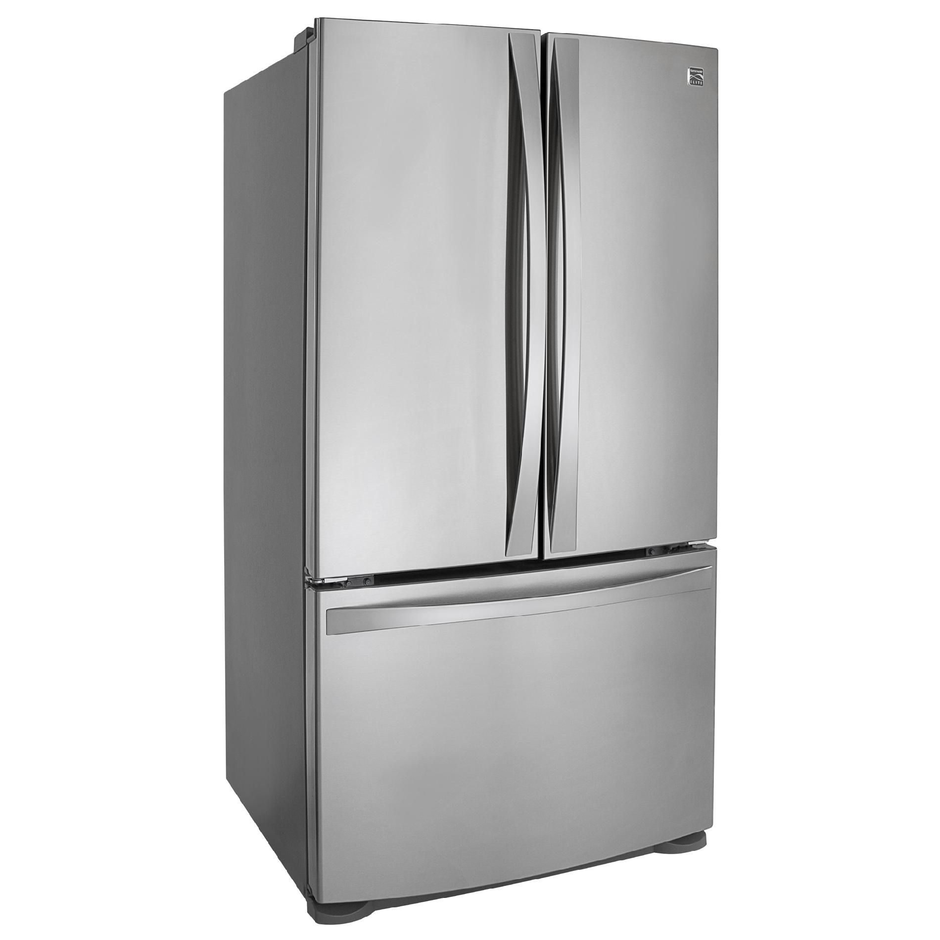 Kenmore Elite 25 cu. ft. French-Door Bottom-Freezer Refrigerator Non-Dispenser - Stainless Steel