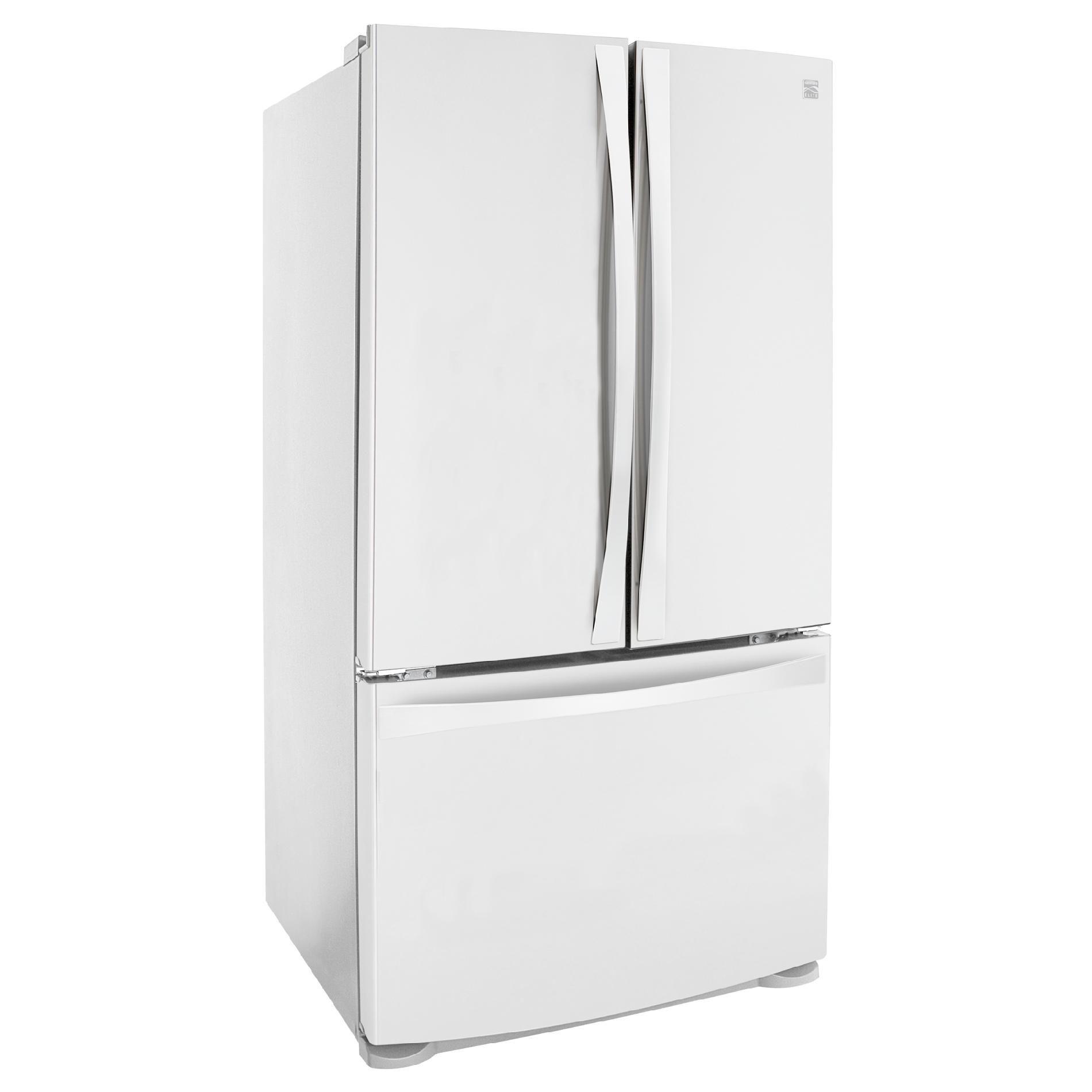 Kenmore Elite 25 cu. ft. French-Door Bottom-Freezer Refrigerator Non-Dispenser - White
