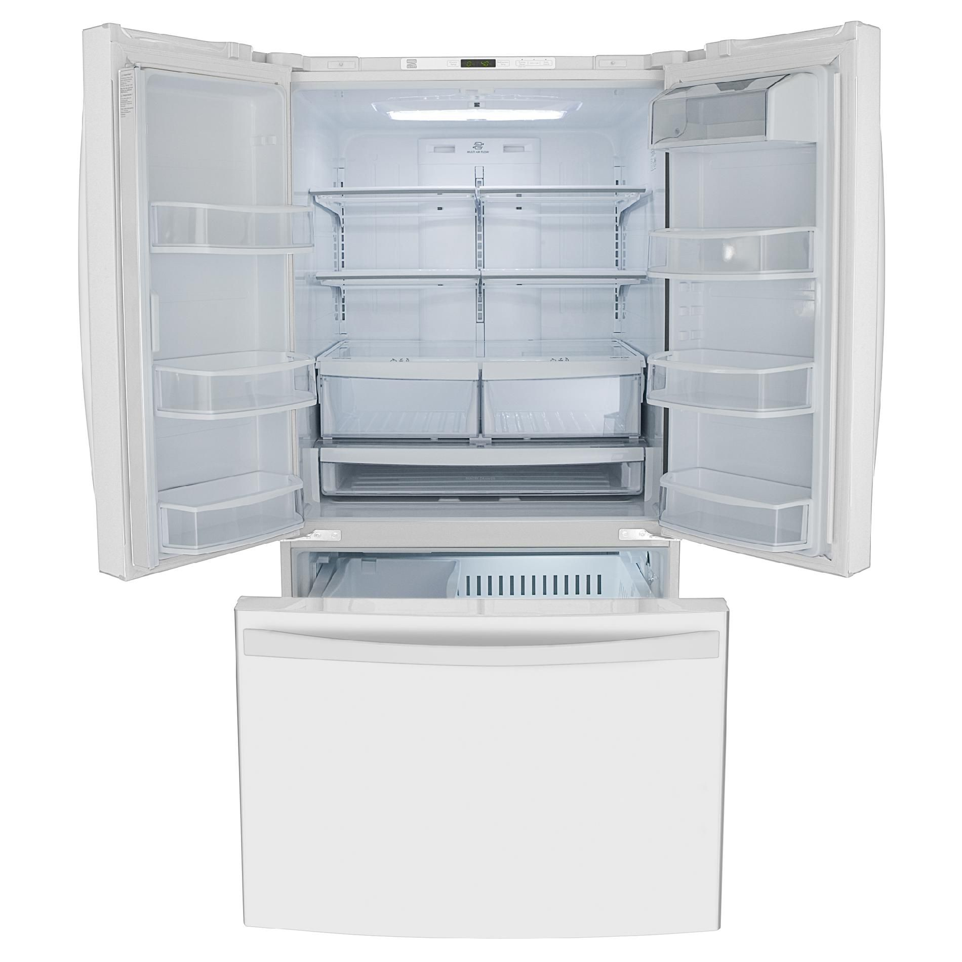 Kenmore Elite 25 cu. ft. French-Door Bottom-Freezer Refrigerator Non-Dispenser - White
