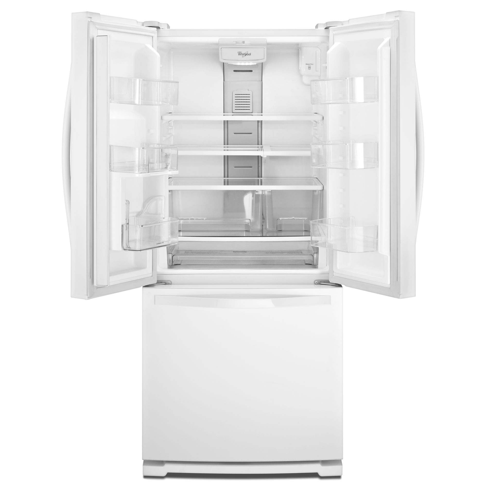 Whirlpool WRF560SMYW 19.7 cu. ft. White Bottom-Freezer French Door Refrigerator
