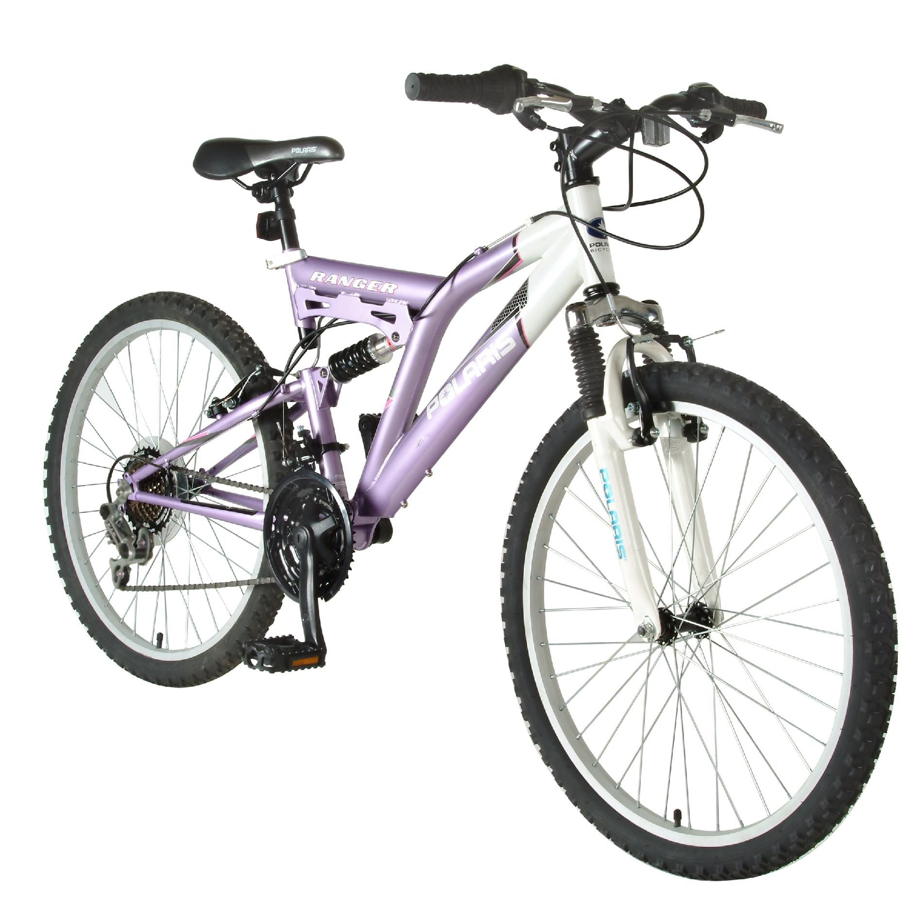 "Polaris Ranger Dual Suspension 24"" Girls Mountain Bike"