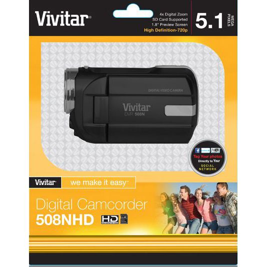 Vivitar DVR 508HD Digital Video Recorder - Black