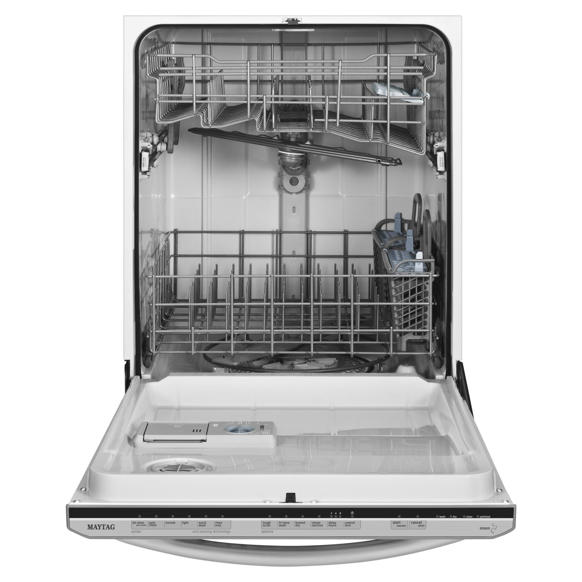 "Maytag 24"" Jetclean® Plus Dishwasher with Fully Integrated Controls - Stainless Steel"