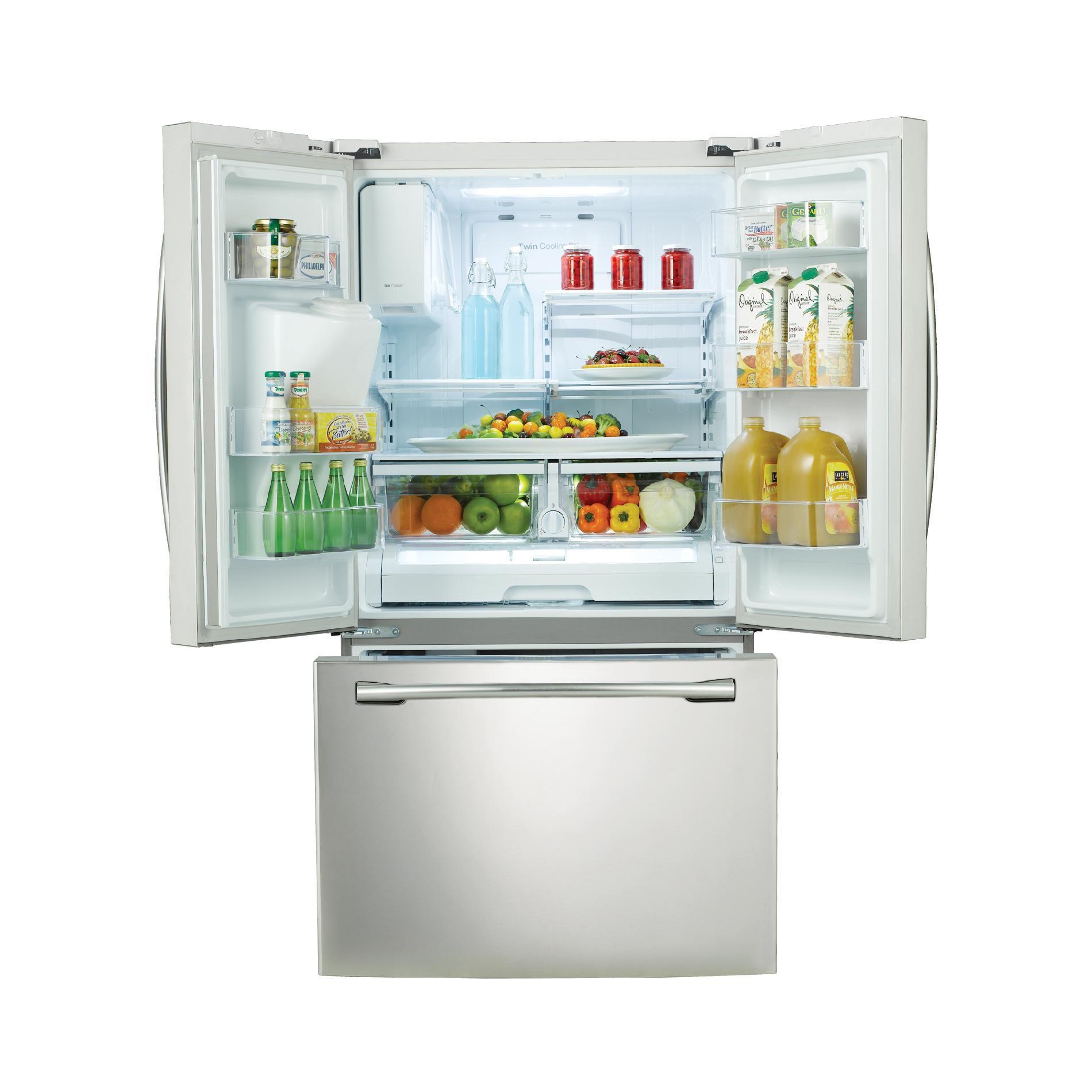 Samsung 26  cu. ft. French Door w/ External Water & Ice Dispenser - White