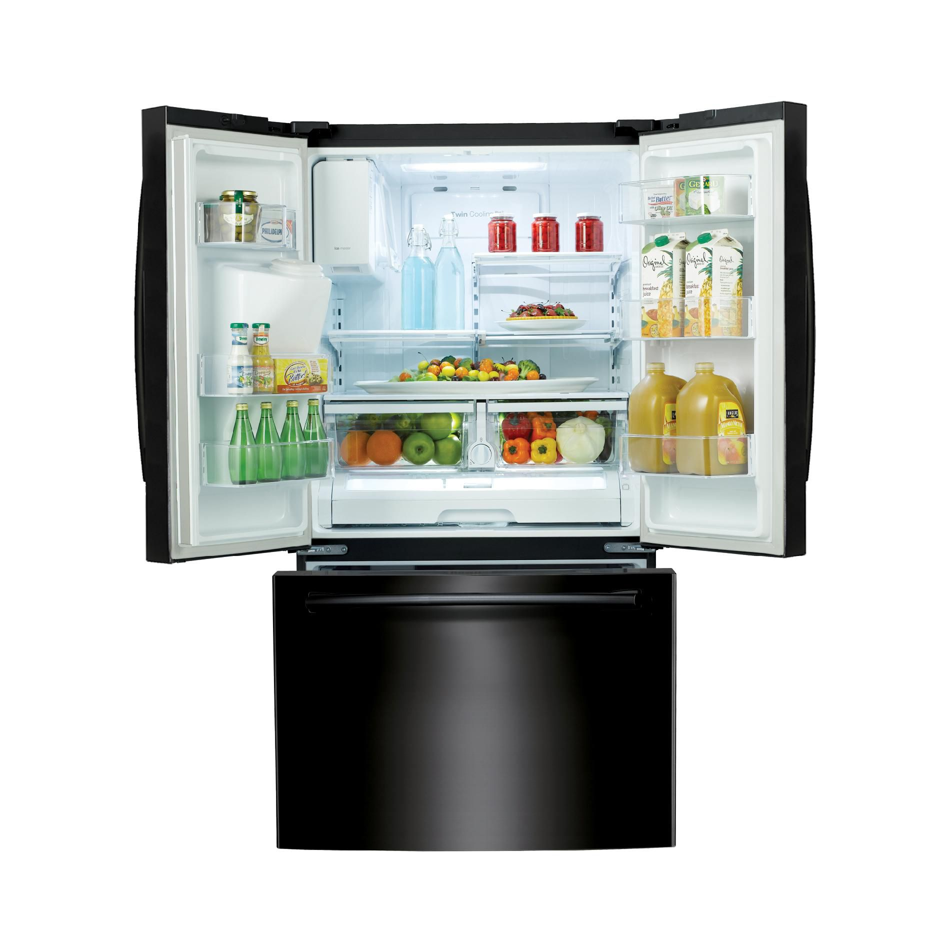 Samsung 26  cu. ft. French Door w/ External Water & Ice Dispenser - Black