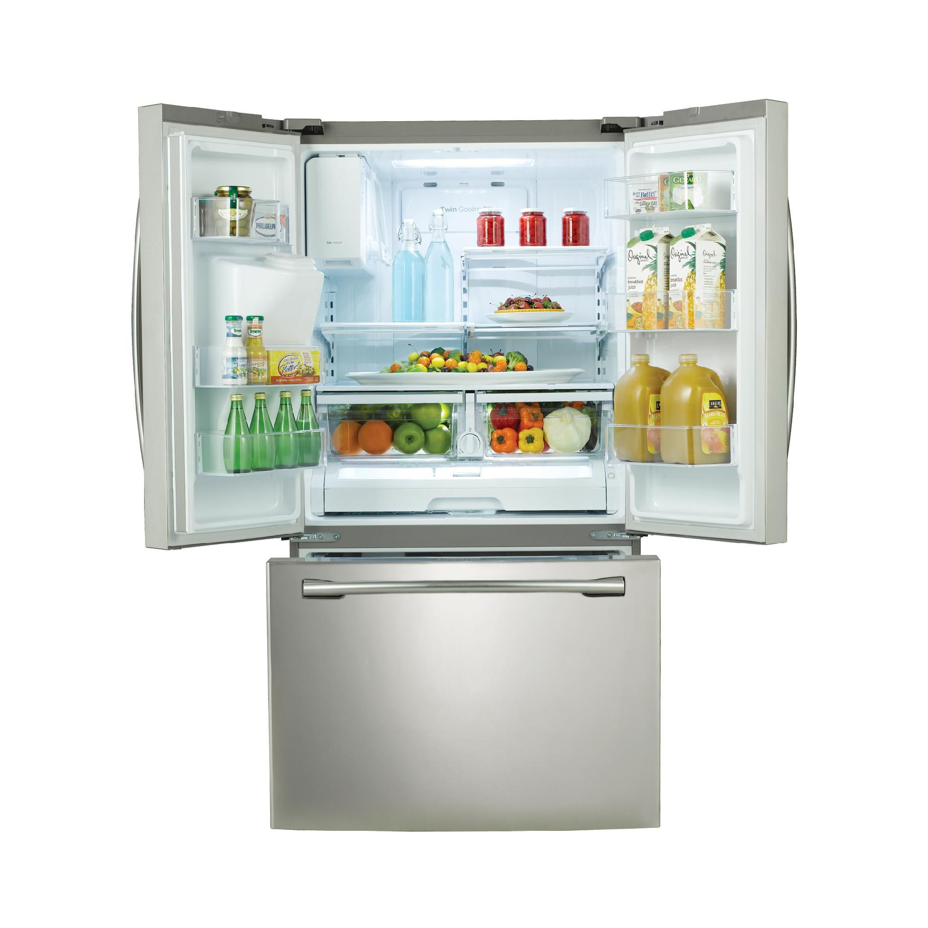 Samsung 26  cu. ft. French Door w/ External Water & Ice Dispenser - Stainless