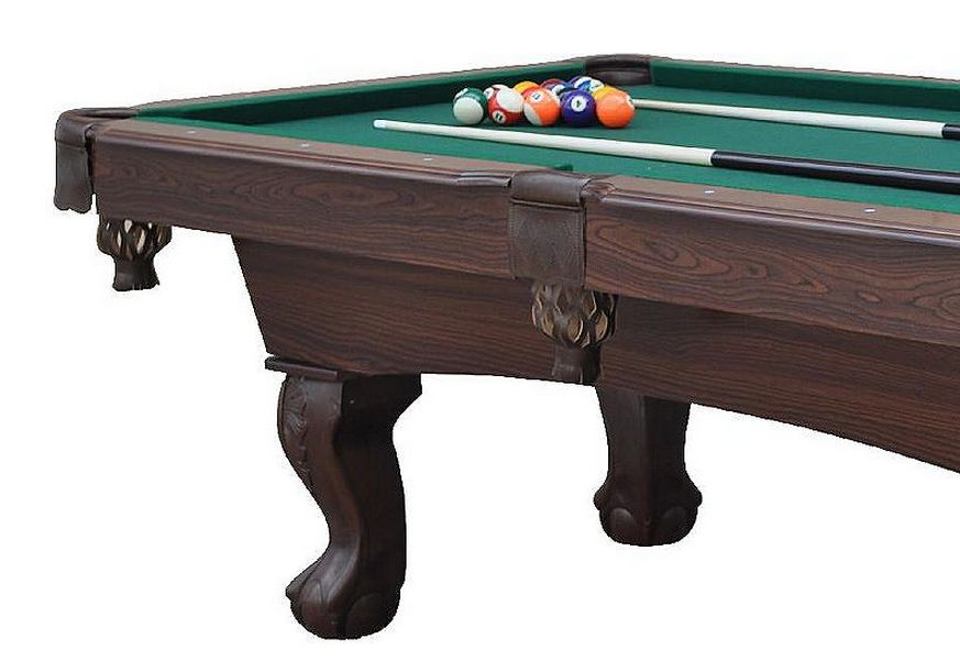 East Point Sports 7.5ft. Springfield Billiard Table with Bonus Cue Rack