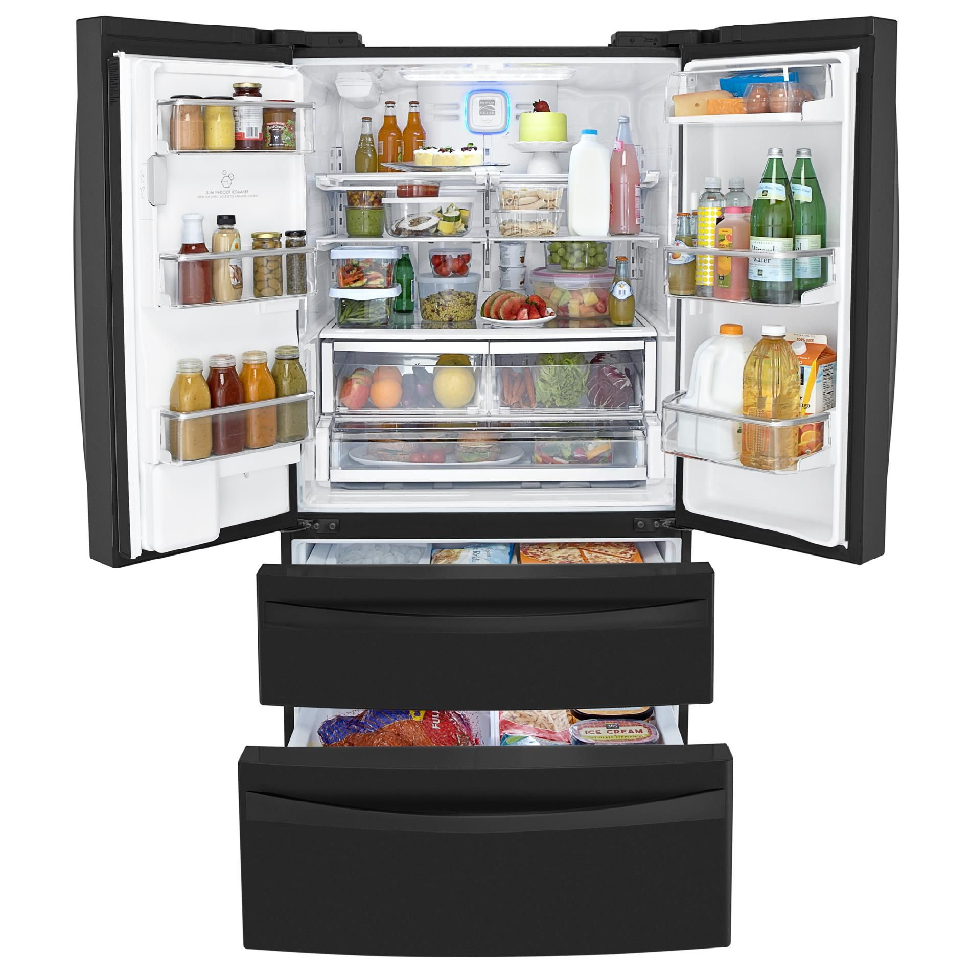 Kenmore Elite 31.0 cu. ft. Dual-Freezer French-Door Bottom-Freezer Refrigerator - Black