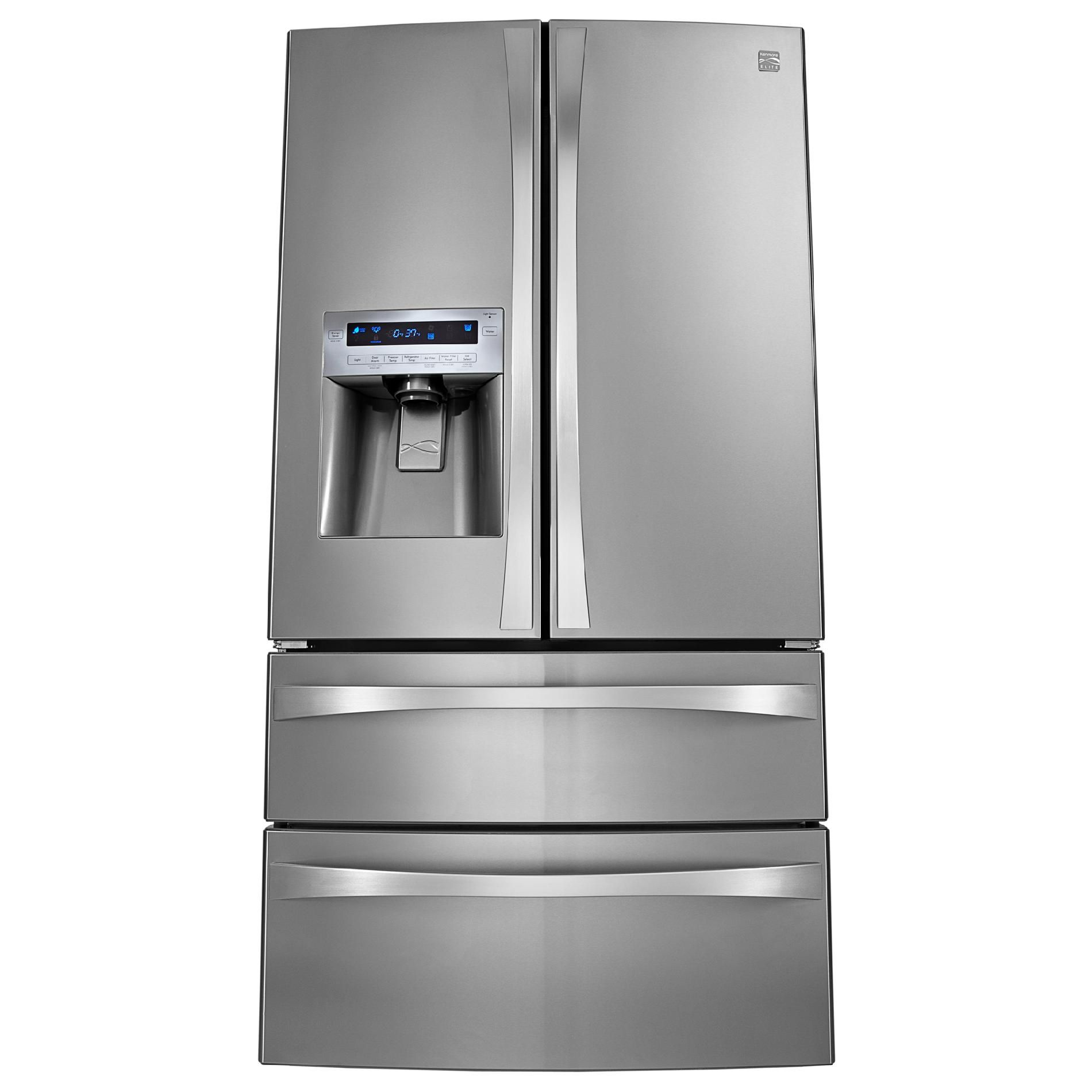 Kenmore Elite 31.0 cu. ft. Dual-Freezer French-Door Bottom-Freezer Refrigerator - Stainless Steel