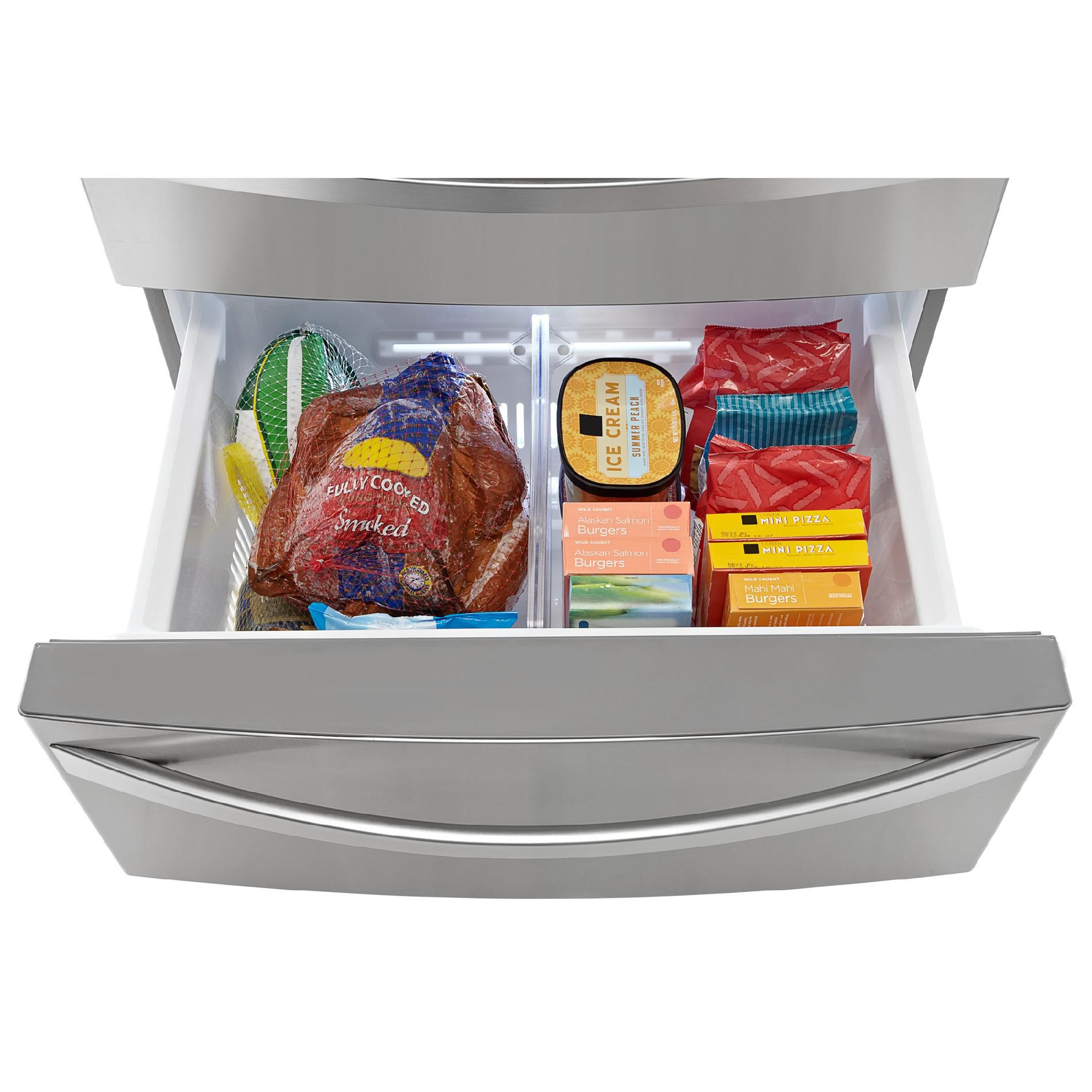 Kenmore Elite 31.0 cu. ft. Dual-Freezer French-Door Bottom-Freezer Refrigerator - Stainless Steel