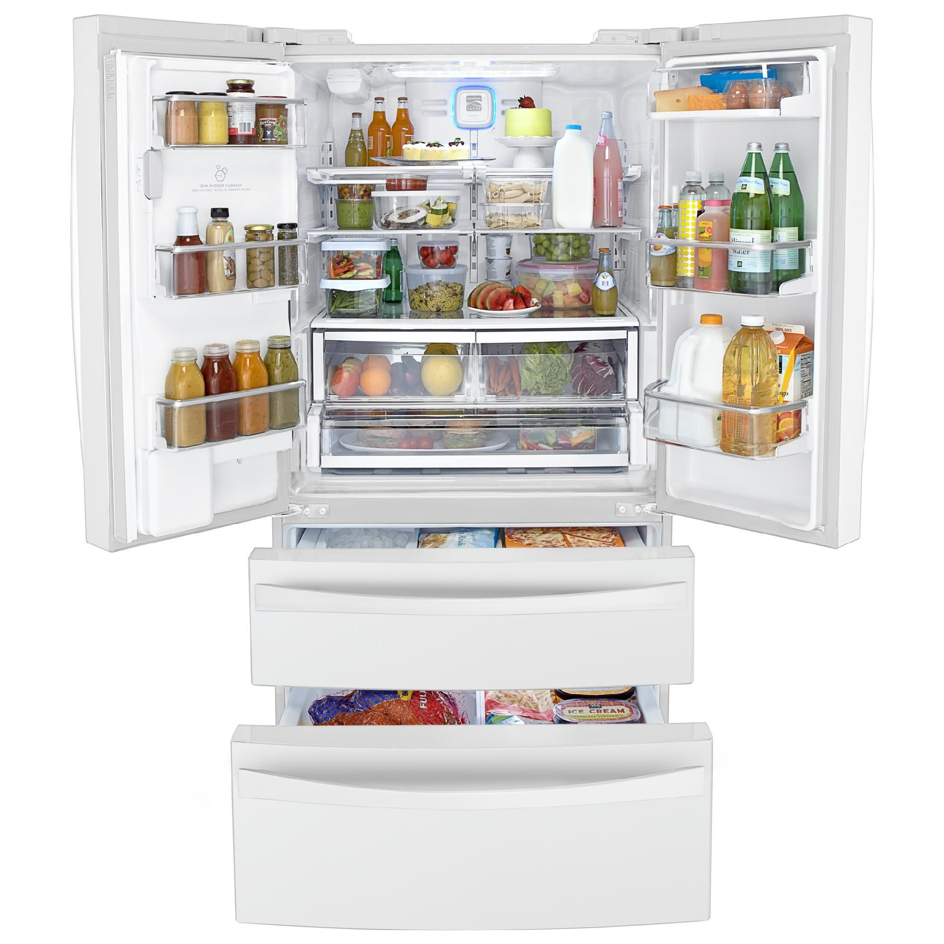 Kenmore Elite 31.0 cu. ft. Dual-Freezer French-Door Bottom-Freezer Refrigerator - White