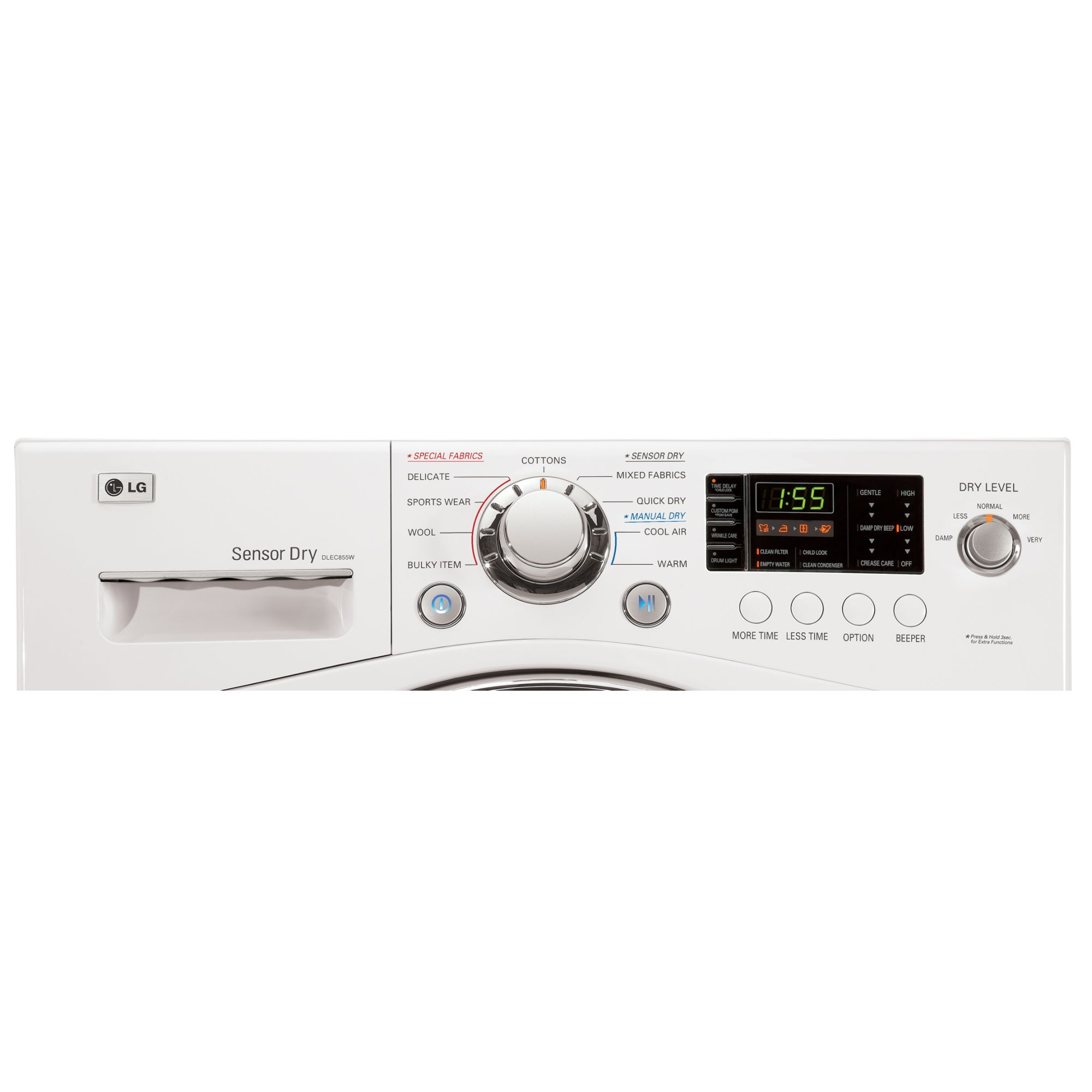 LG DLEC855W 4.2 cu. ft. Compact Electric Dryer