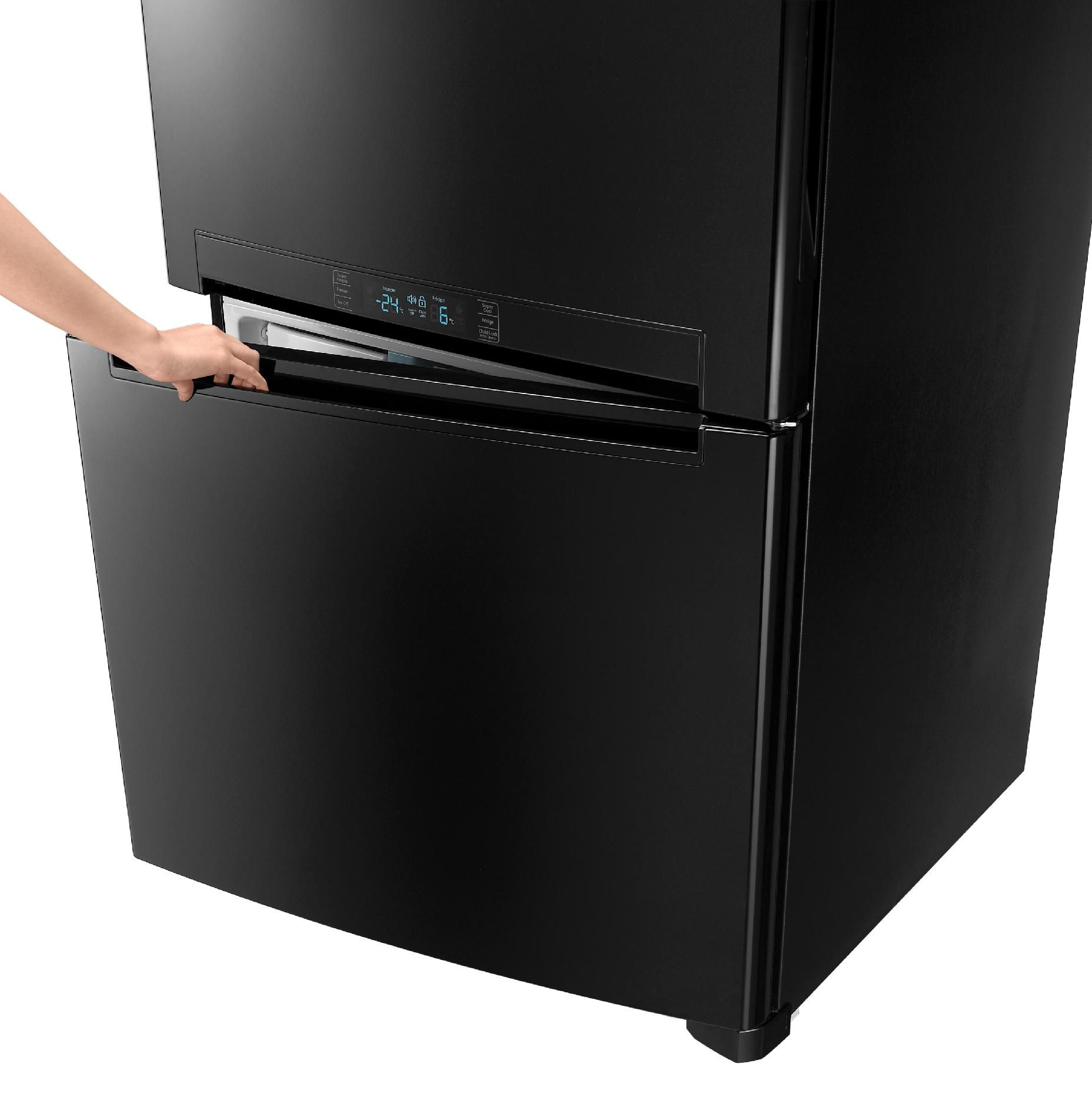 Samsung 18 cu. ft. Bottom Freezer with Side Swing Freezer Door - Black