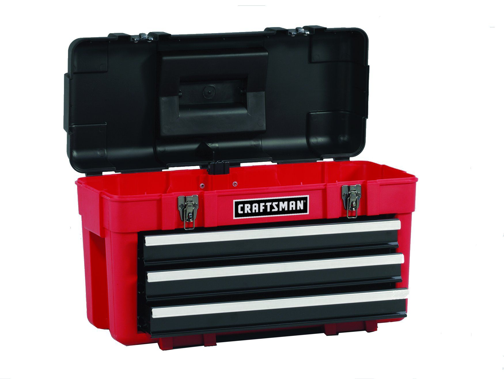 Craftsman 3-Drawer Plastic/Metal Portable Chest - Red/Black