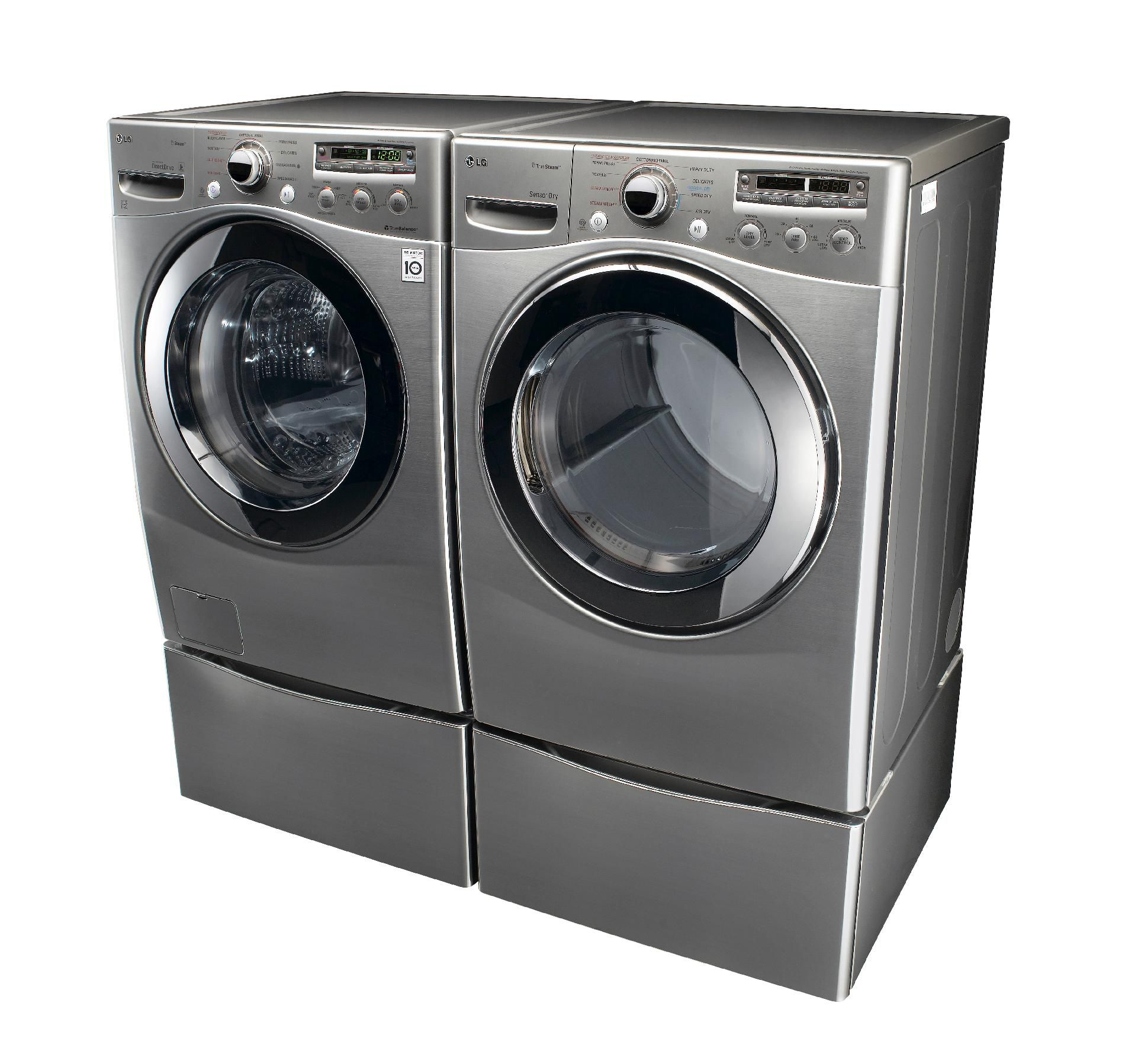LG 3.6 Cu. Ft. Steam Front Load Washer with w/Cold Wash™ - Graphite Steel
