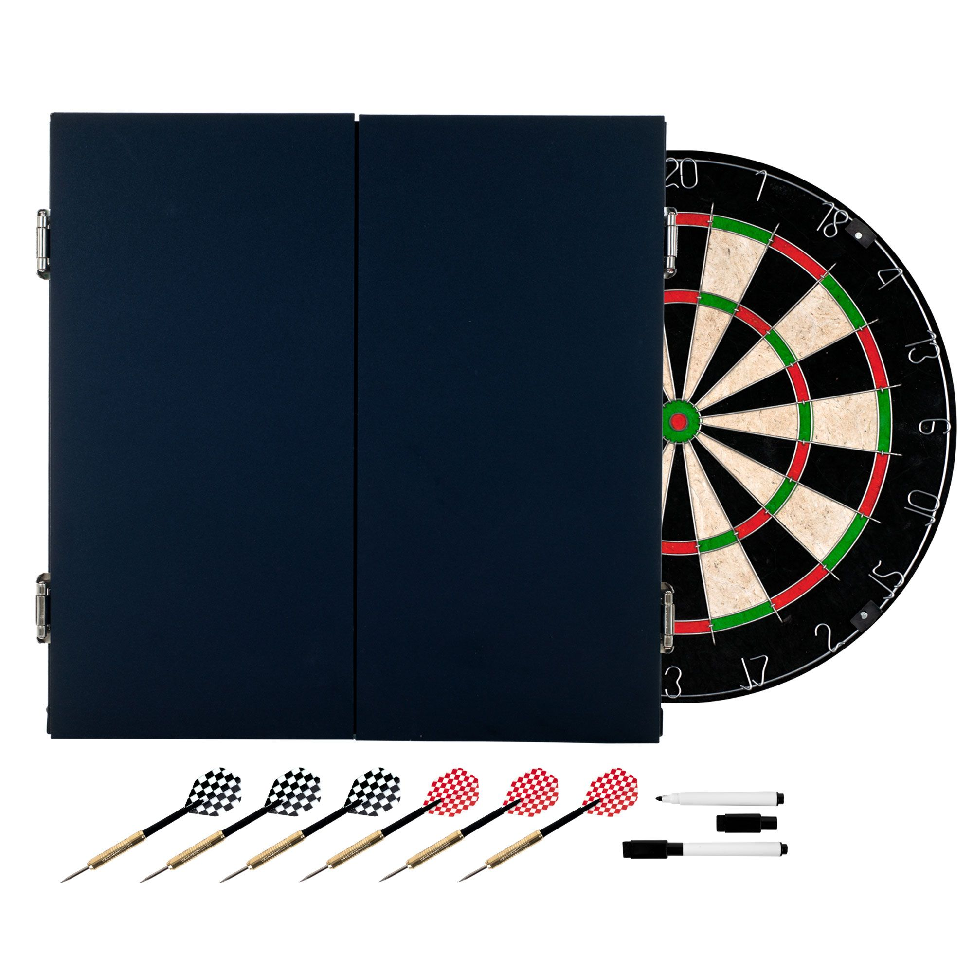 Trademark Games Black Laminate Dart Cabinet Set